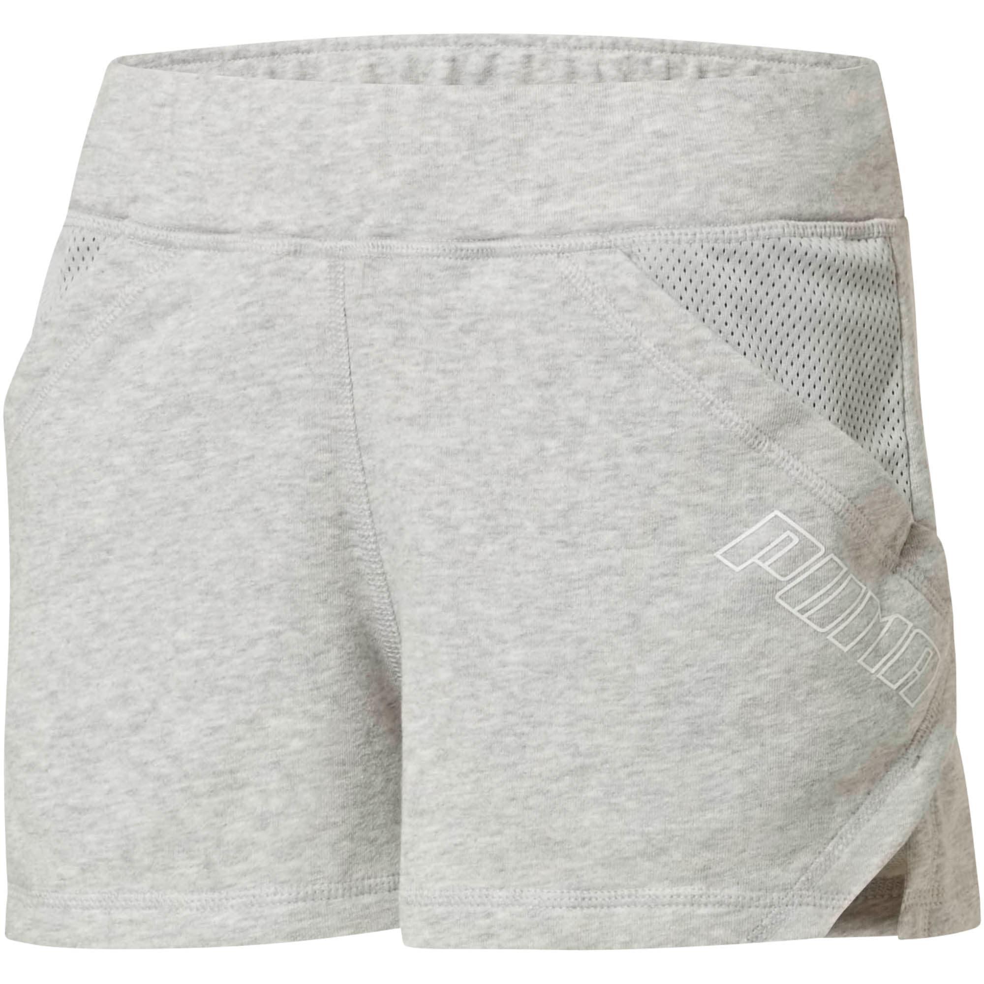 "Thumbnail 2 of Yogini Women's 3"" Shorts, Light Gray Heather, medium"