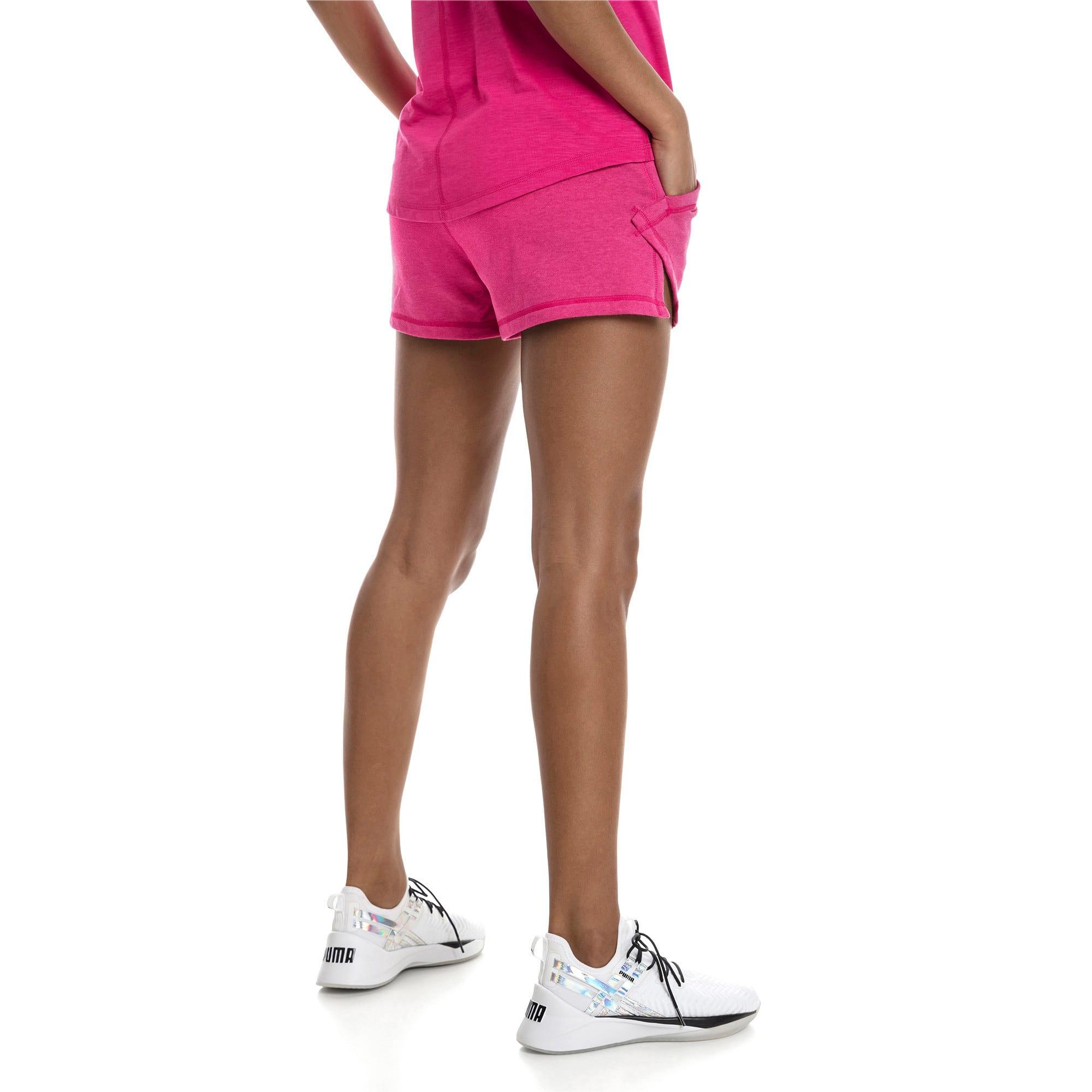 "Thumbnail 2 of A.C.E. Yogini 3"" Women's Training Shorts, Fuchsia Purple Heather, medium"