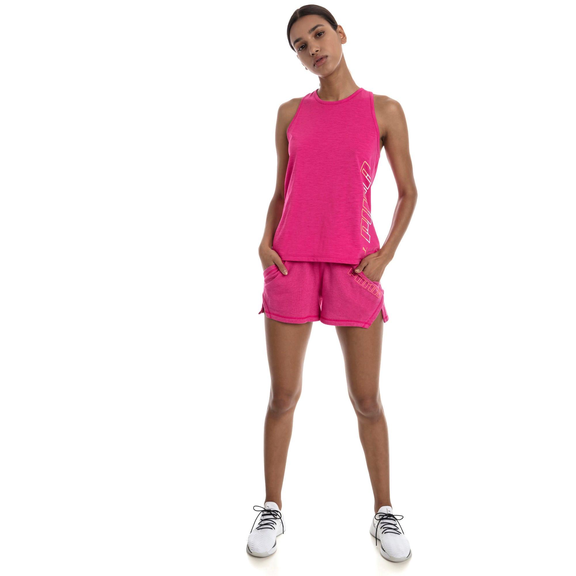 "Thumbnail 3 of A.C.E. Yogini 3"" Women's Training Shorts, Fuchsia Purple Heather, medium"