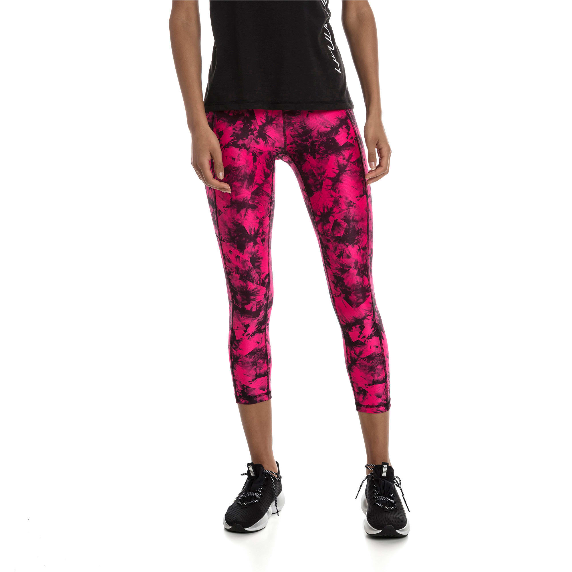 Stand Out trainingslegging voor dames, fuchsia paars-puma black, large