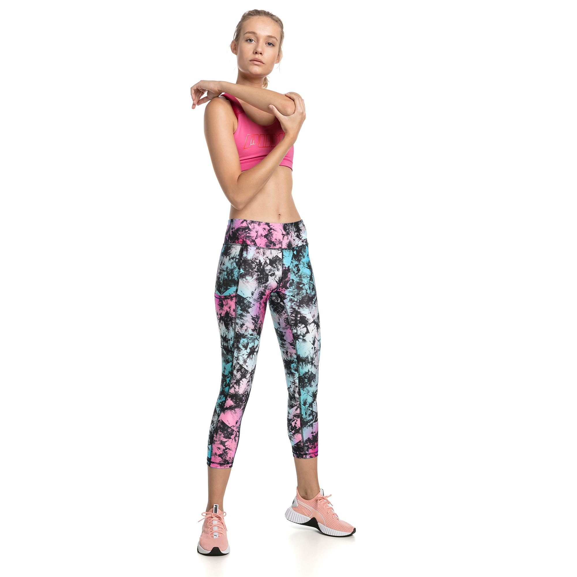 Thumbnail 3 of Stand Out Women's Training Leggings, puma black-Multi color, medium-IND