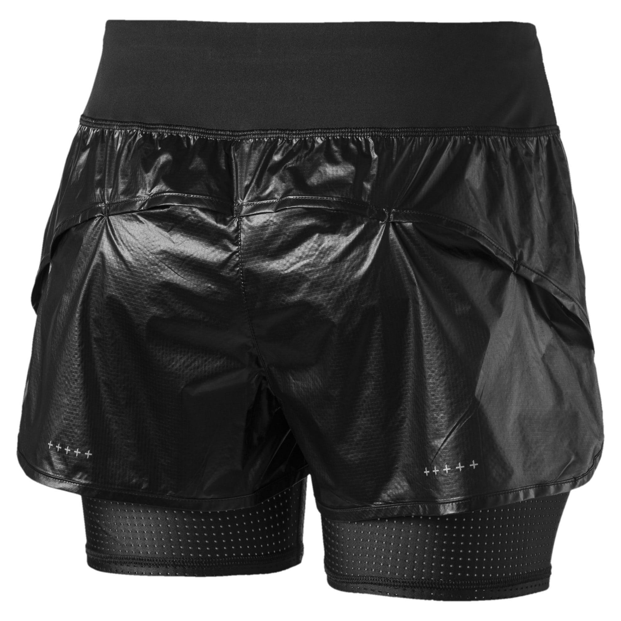 Thumbnail 5 of Blast Woven 2 in 1 Women's Running Shorts, Puma Black-metallic, medium-IND