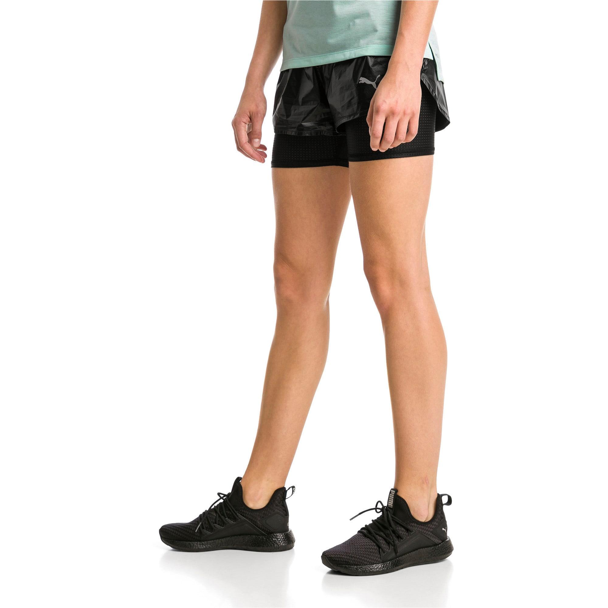 Thumbnail 2 of Blast Woven 2 in 1 Women's Running Shorts, Puma Black-metallic, medium-IND