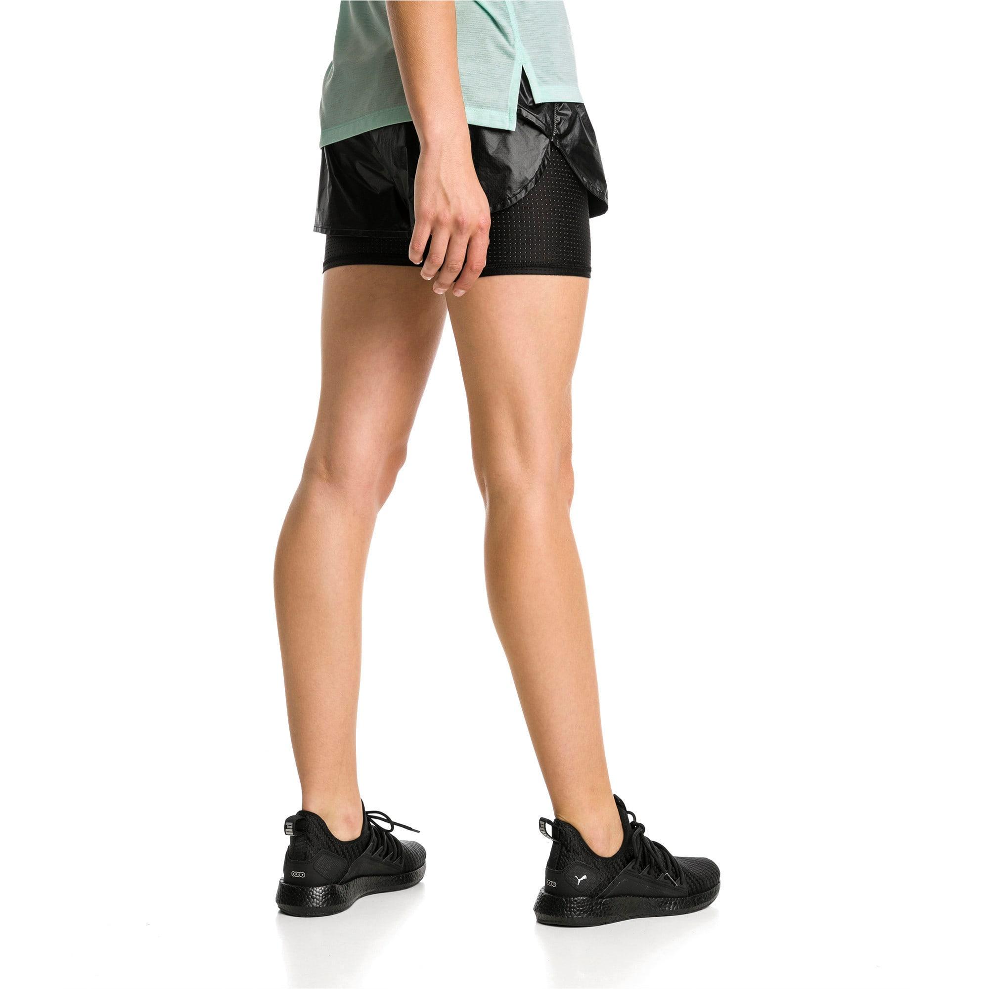 Thumbnail 3 of Blast Woven 2 in 1 Women's Running Shorts, Puma Black-metallic, medium-IND