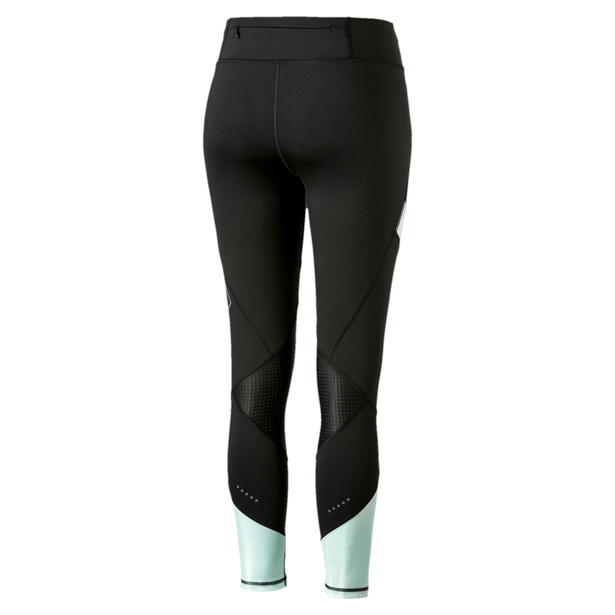 Thumbnail 5 of Elite Women's Running Leggings, Puma Black-Fair Aqua, medium-SEA
