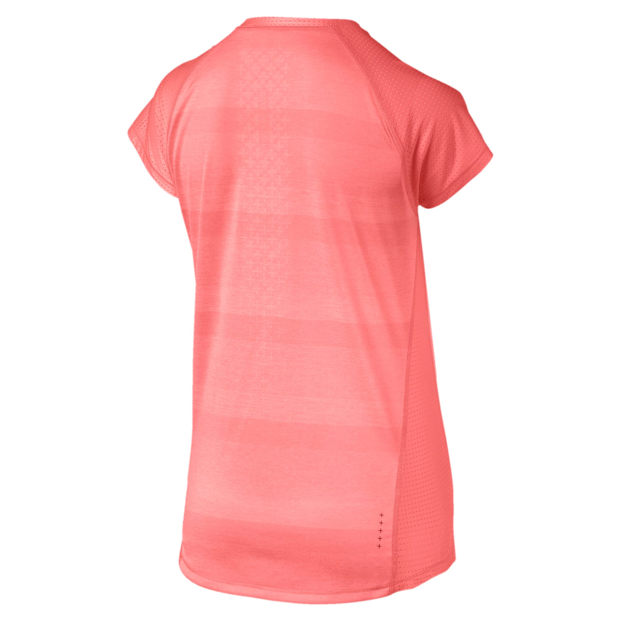 Thumbnail 5 of Thermo-R+ Short Sleeve Women's Running Tee, Bright Peach Heather, medium-IND
