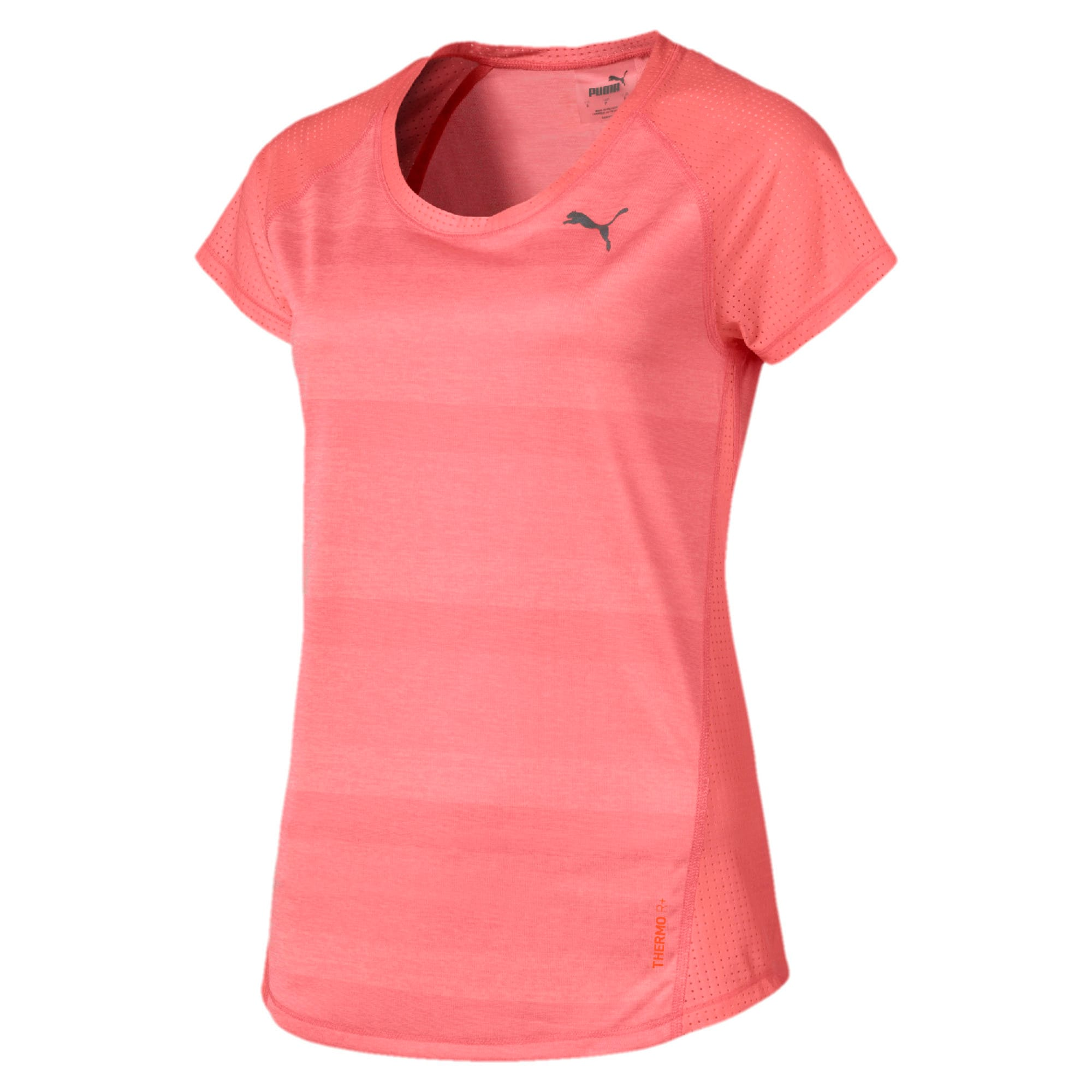 Thumbnail 4 of Thermo-R+ Short Sleeve Women's Running Tee, Bright Peach Heather, medium-IND