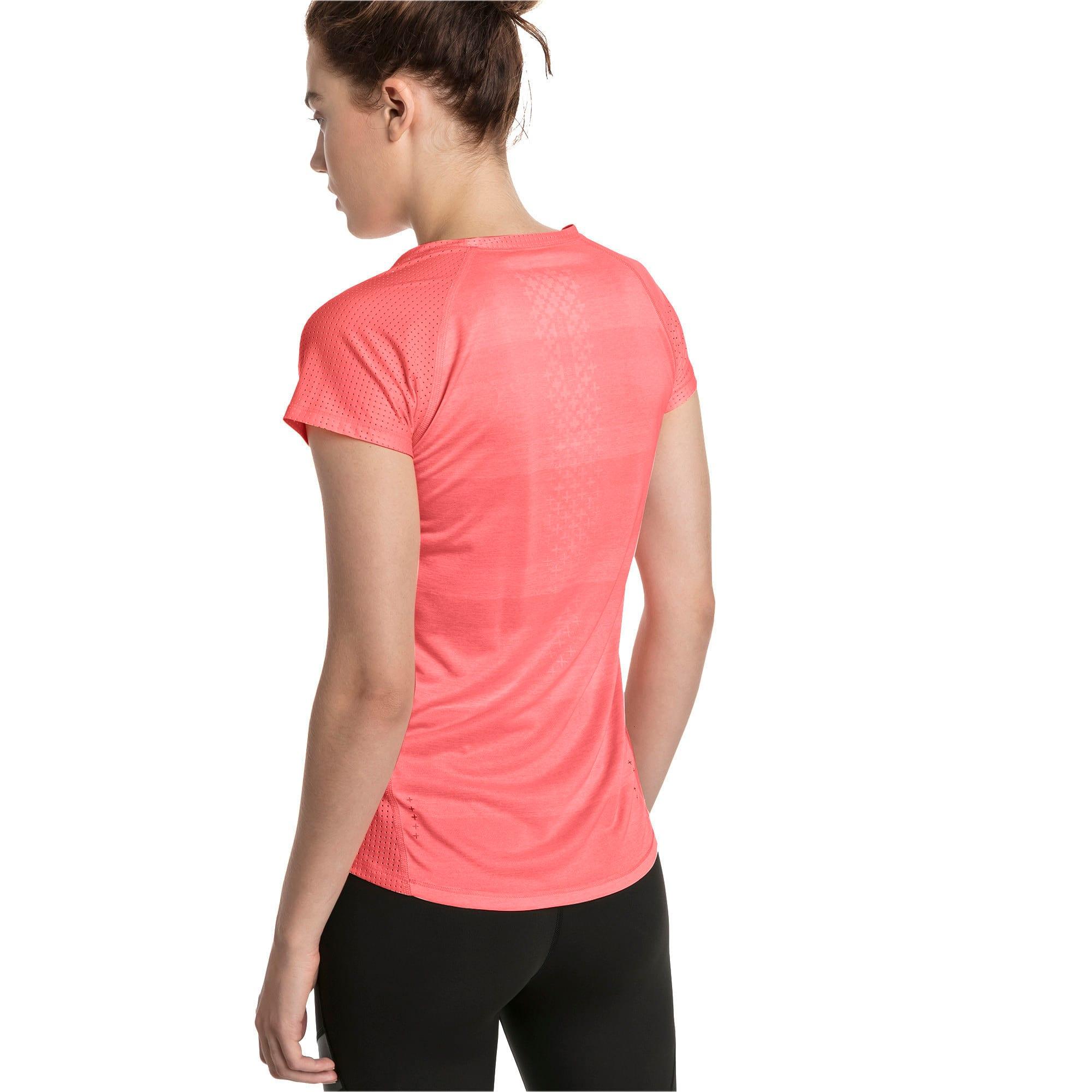 Thumbnail 2 of Thermo-R+ Short Sleeve Women's Running Tee, Bright Peach Heather, medium-IND