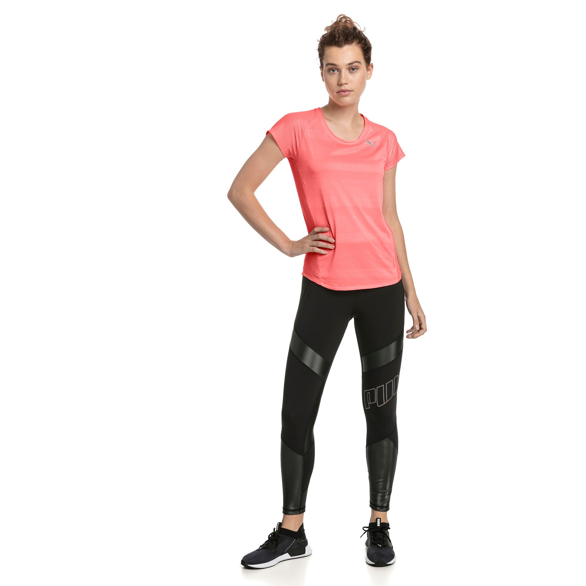Thumbnail 3 of Thermo-R+ Short Sleeve Women's Running Tee, Bright Peach Heather, medium-IND