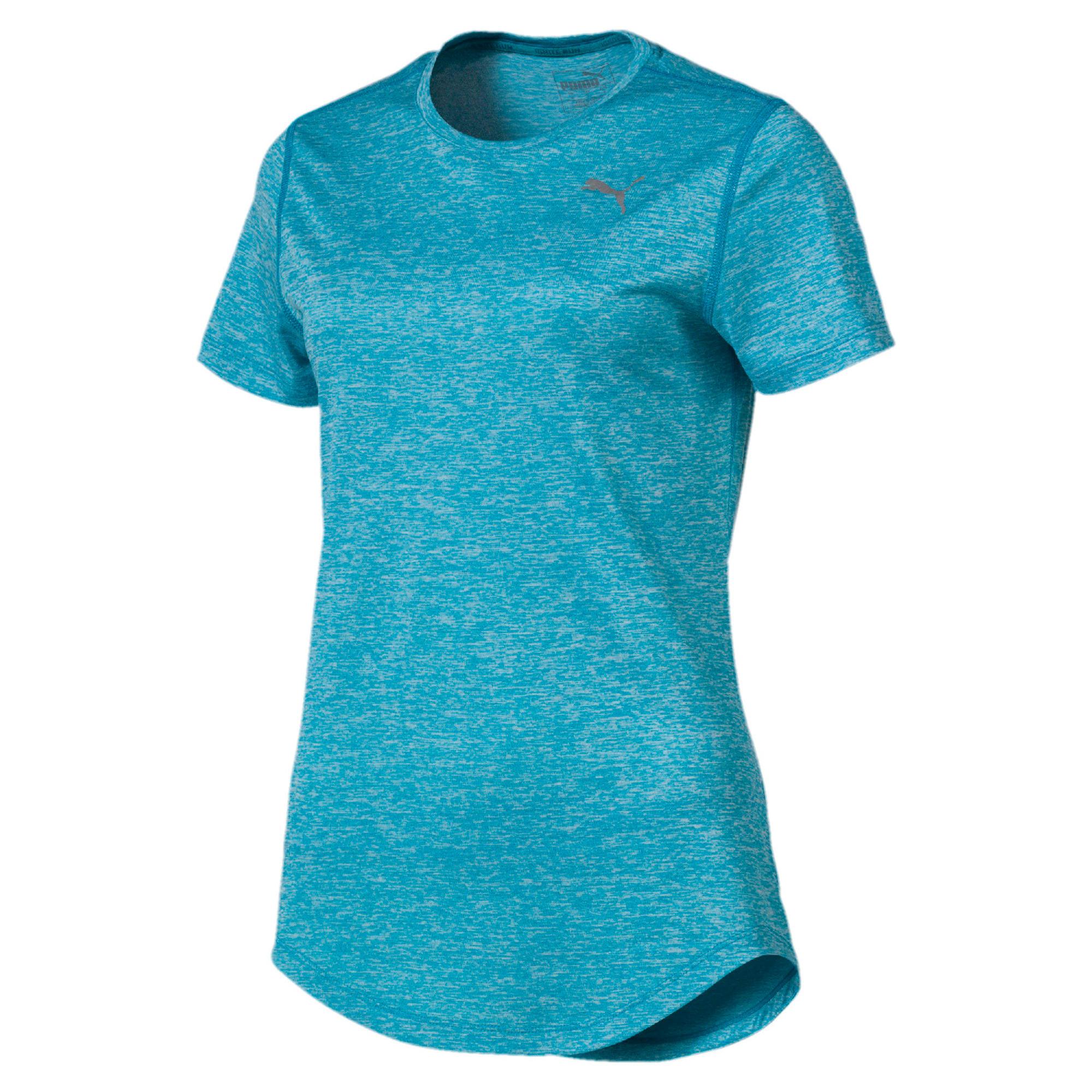 Thumbnail 4 of Epic Heather Short Sleeve Women's Running Tee, Caribbean Sea Heather, medium-IND