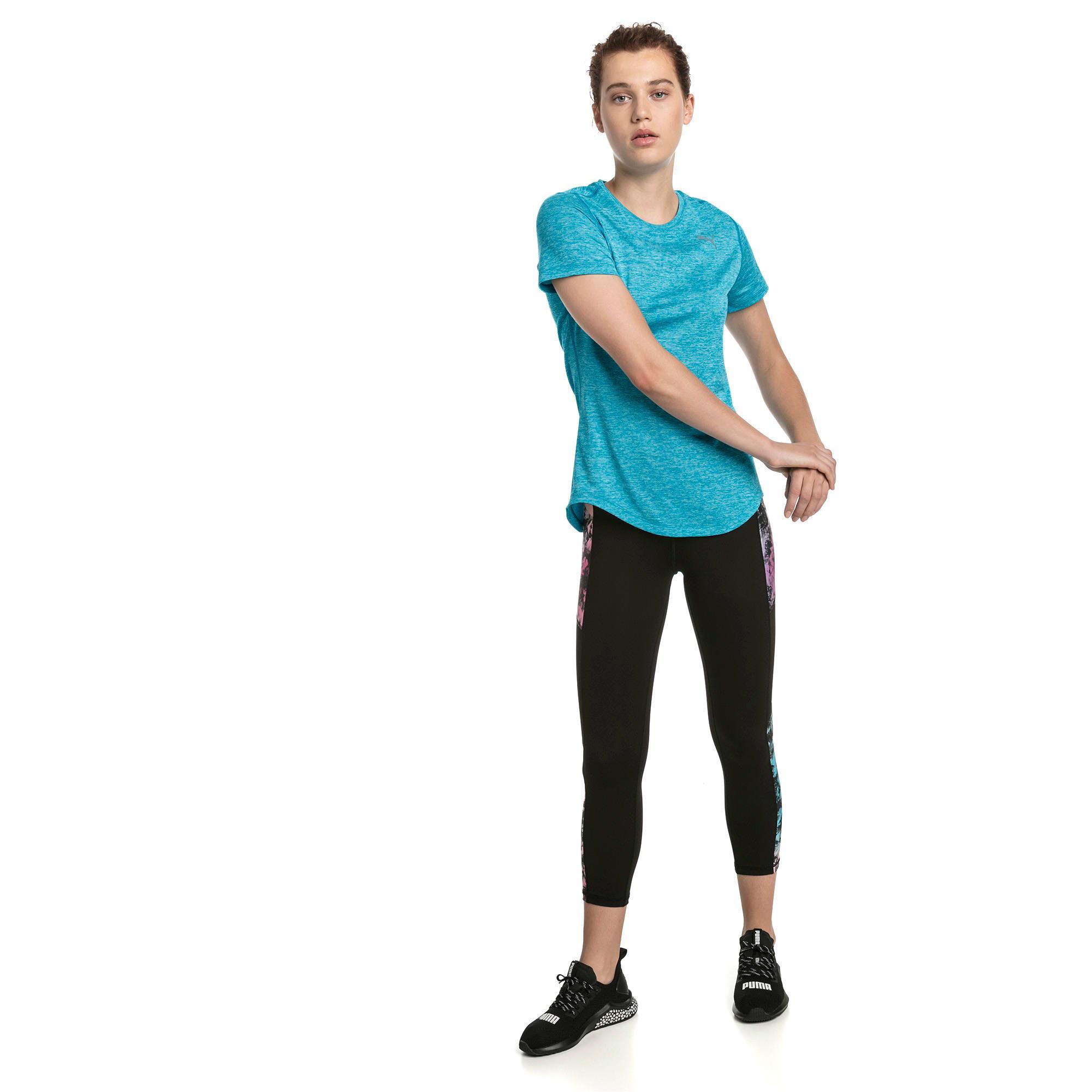 Thumbnail 3 of Epic Heather Short Sleeve Women's Running Tee, Caribbean Sea Heather, medium-IND