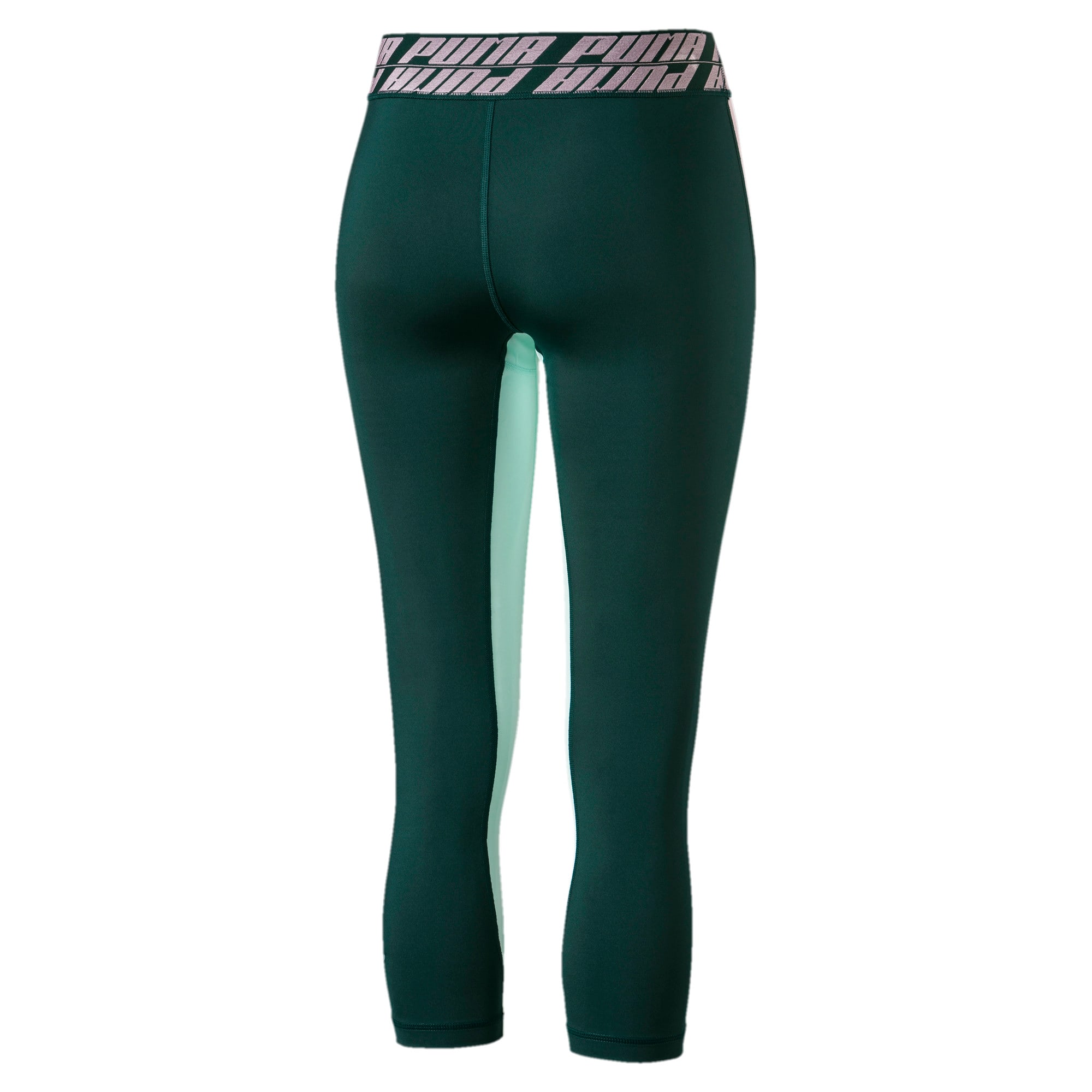 Thumbnail 3 of Own It Women's 3/4 Leggings, Ponderosa Pine-Fair Aqua, medium
