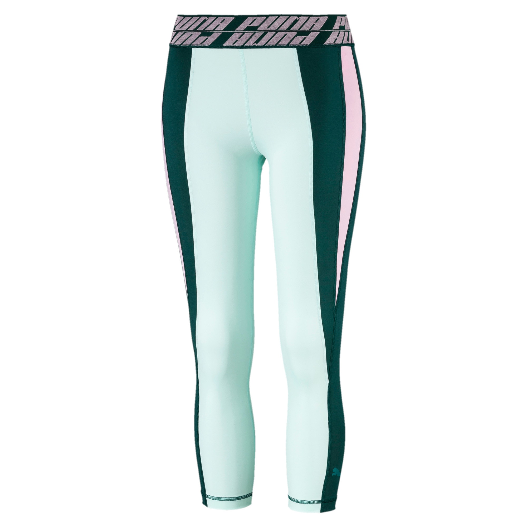 Thumbnail 2 of Own It Women's 3/4 Leggings, Ponderosa Pine-Fair Aqua, medium