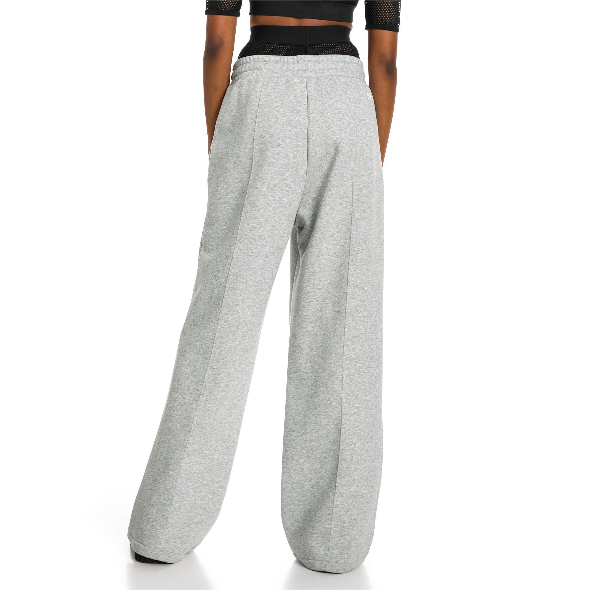 Thumbnail 3 van PUMA x SELENA GOMEZ Gebreide sweaterbroek voor vrouwen, Light Gray Heather, medium
