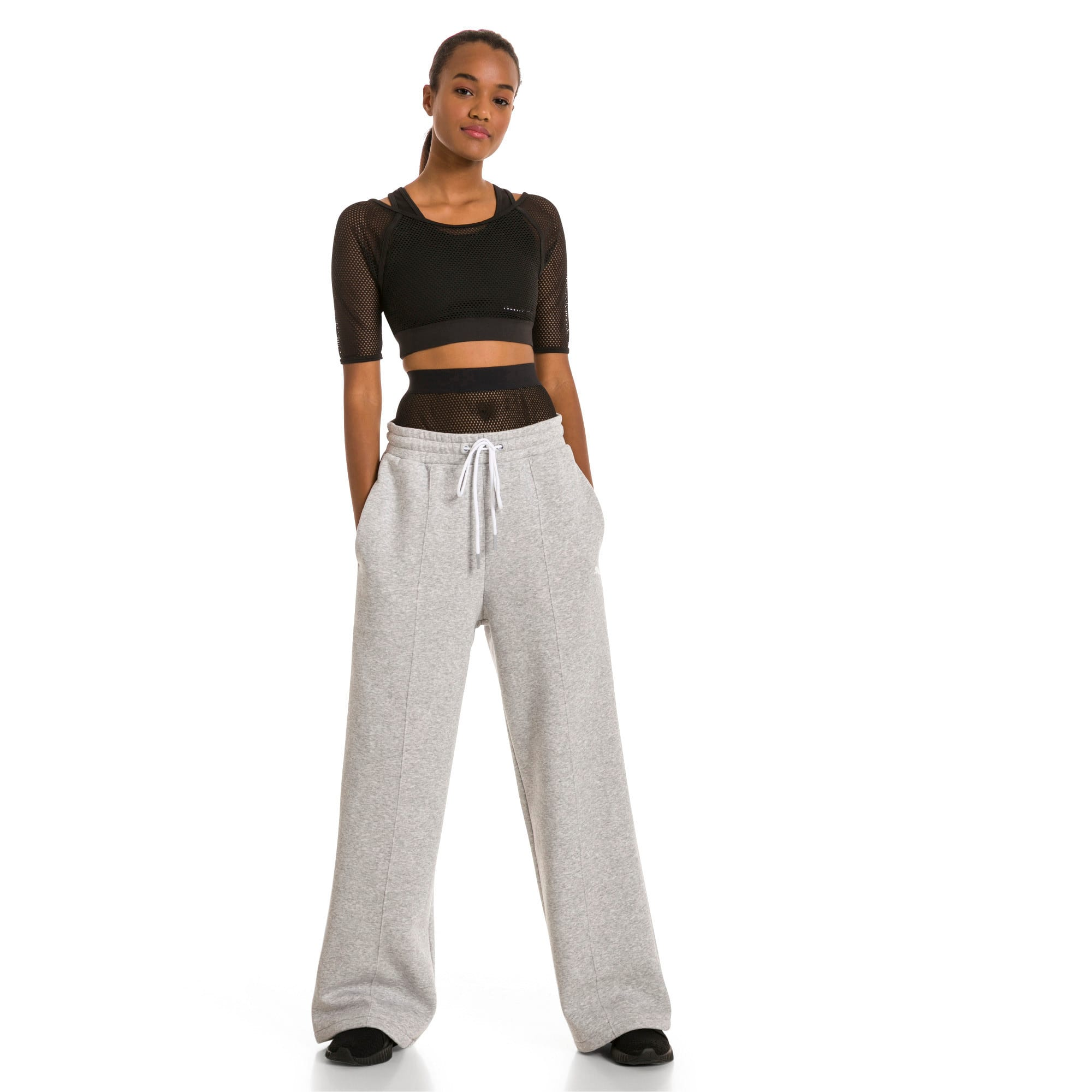 Thumbnail 5 van PUMA x SELENA GOMEZ Gebreide sweaterbroek voor vrouwen, Light Gray Heather, medium
