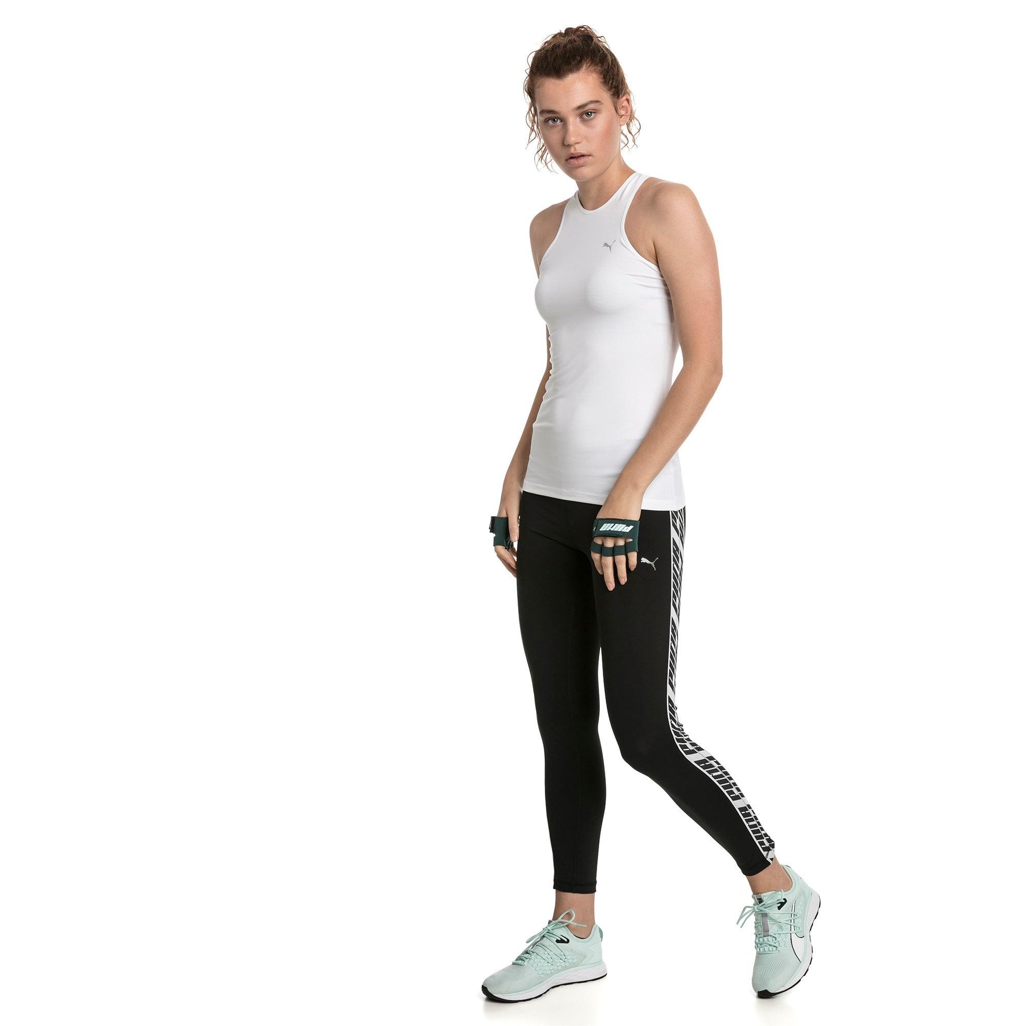 Thumbnail 3 of Feel It Women's 7/8 Leggings, Puma Black-with White tape, medium