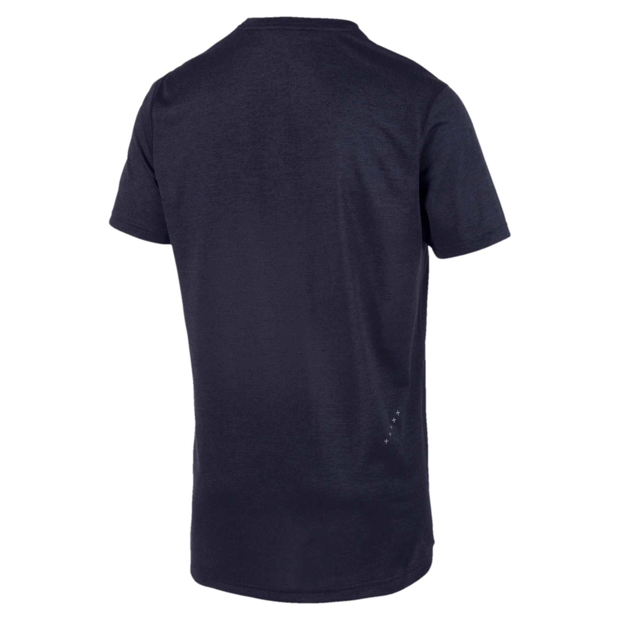 Thumbnail 5 of IGNITE Heather Short Sleeve Men's Running Tee, Peacoat Heather, medium-IND
