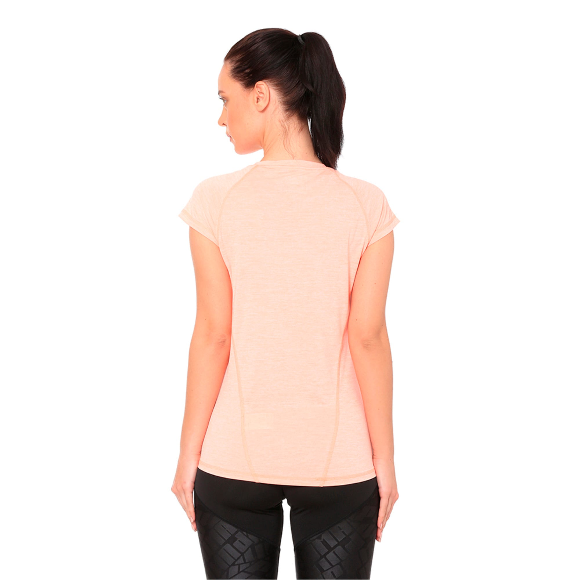 Thumbnail 5 of DeLite Tee, Bright Peach Heather, medium-IND