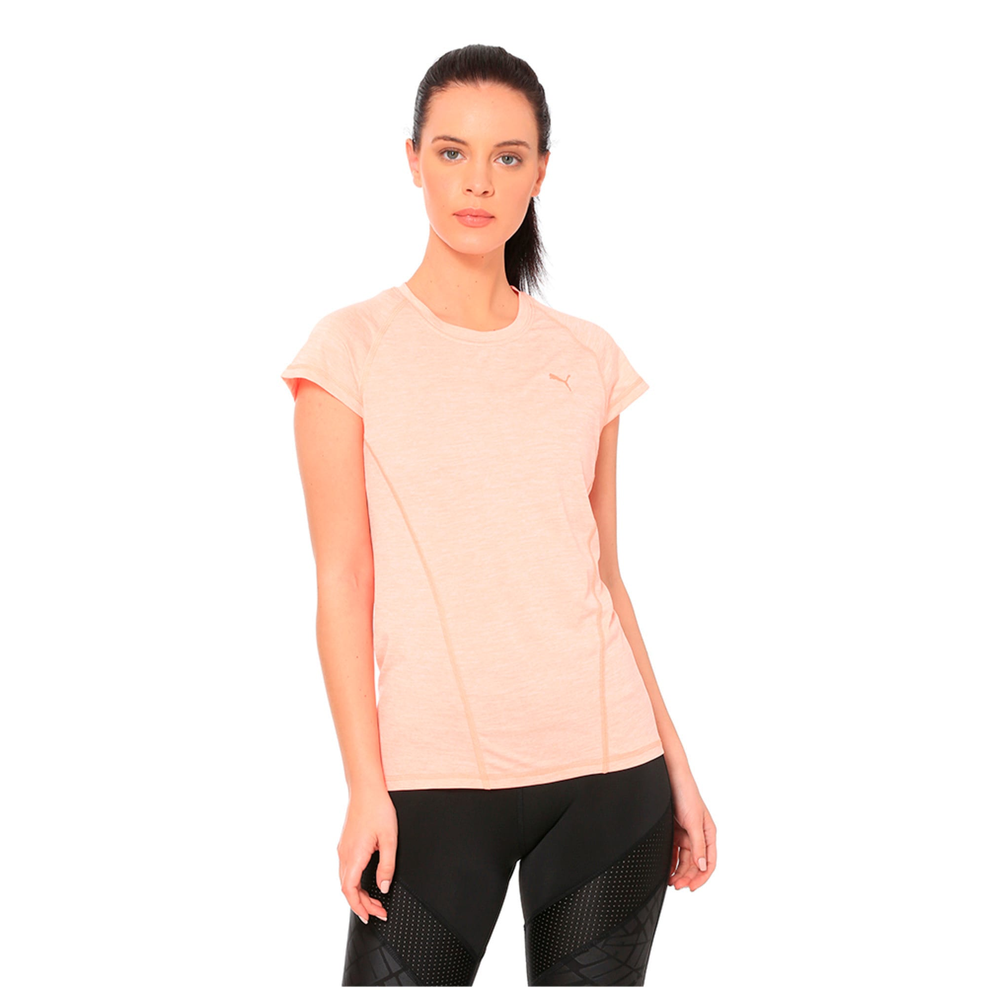 Thumbnail 4 of DeLite Tee, Bright Peach Heather, medium-IND