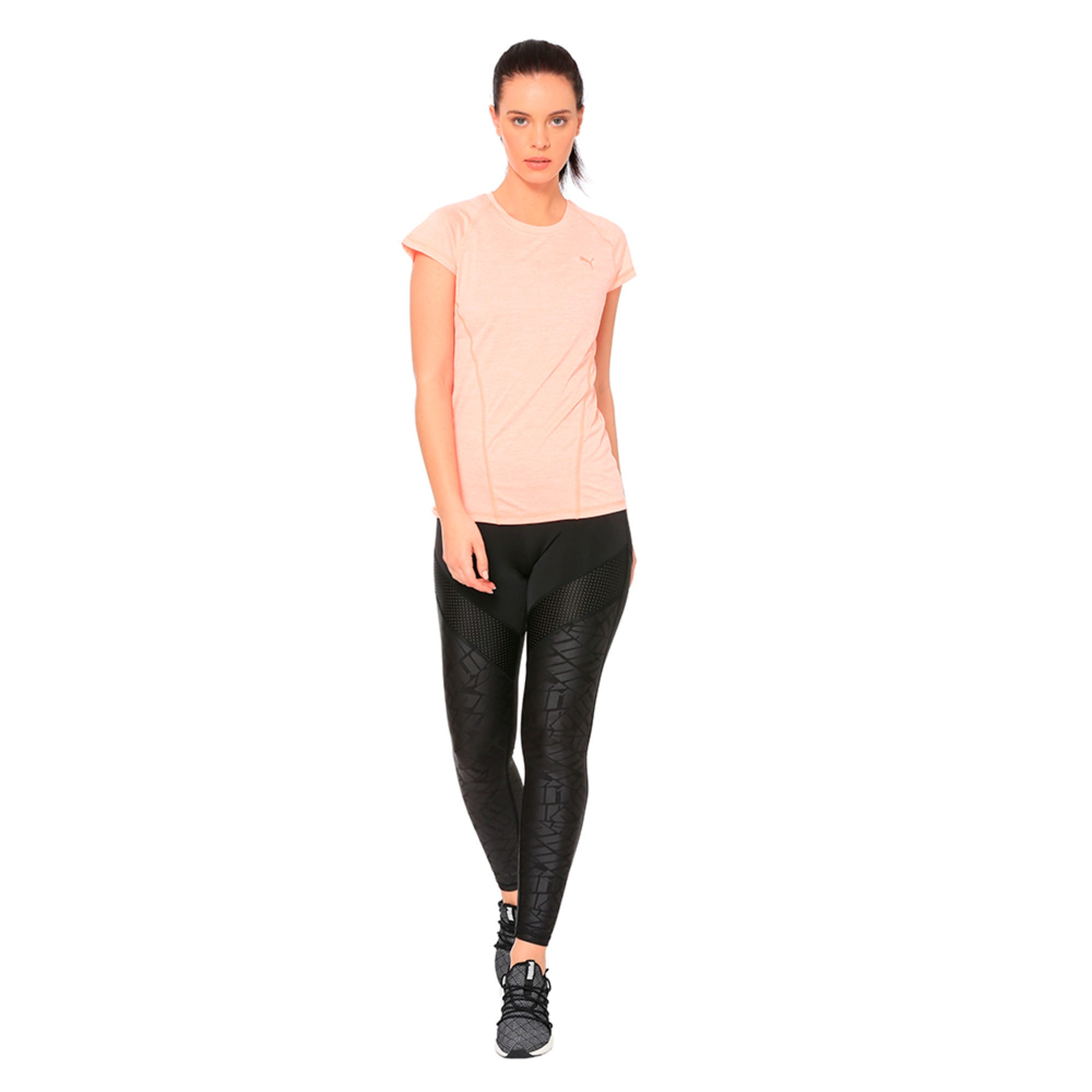 Thumbnail 1 of DeLite Tee, Bright Peach Heather, medium-IND