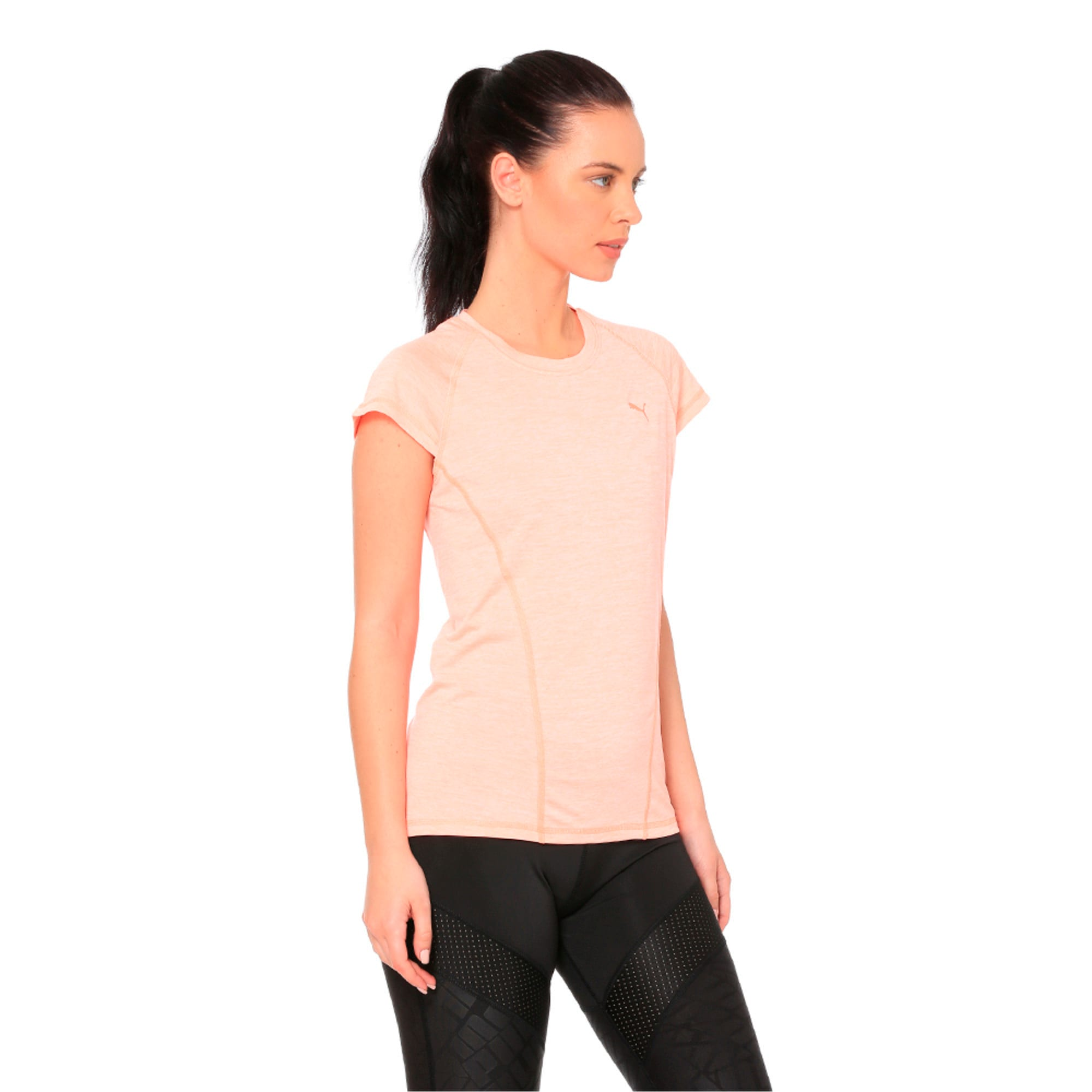 Thumbnail 2 of DeLite Tee, Bright Peach Heather, medium-IND