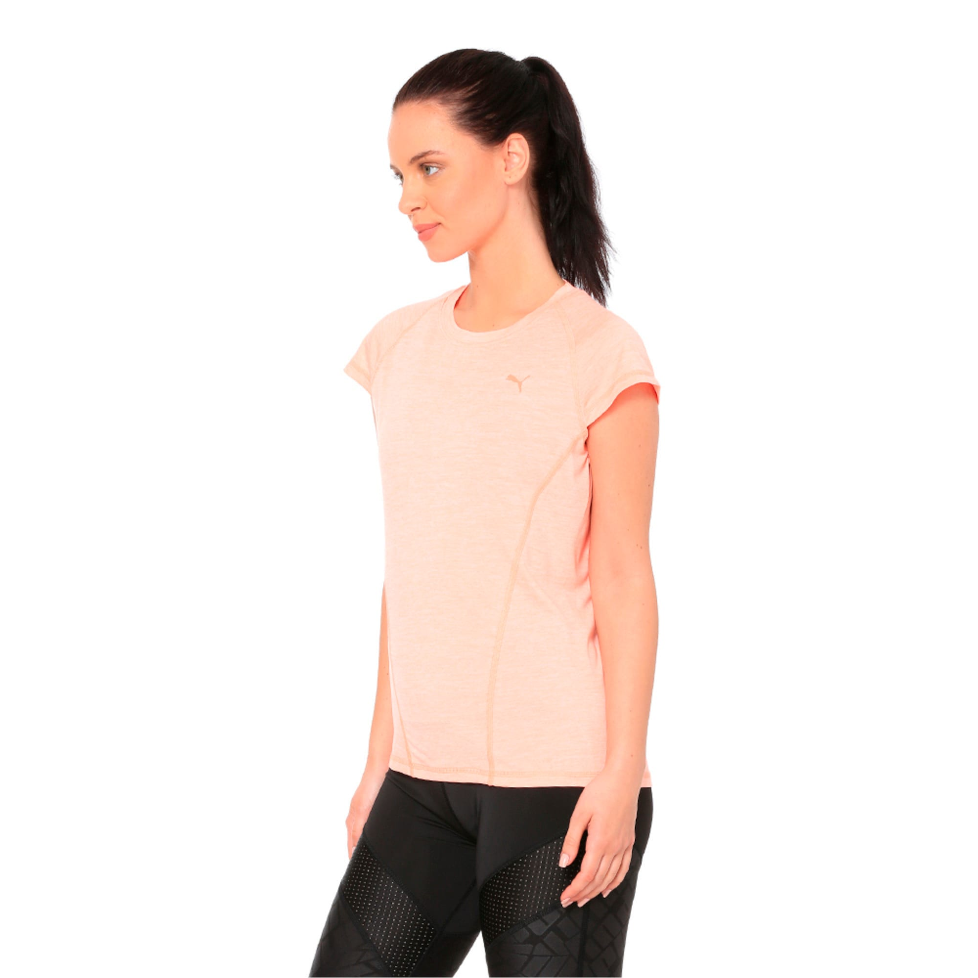 Thumbnail 3 of DeLite Tee, Bright Peach Heather, medium-IND