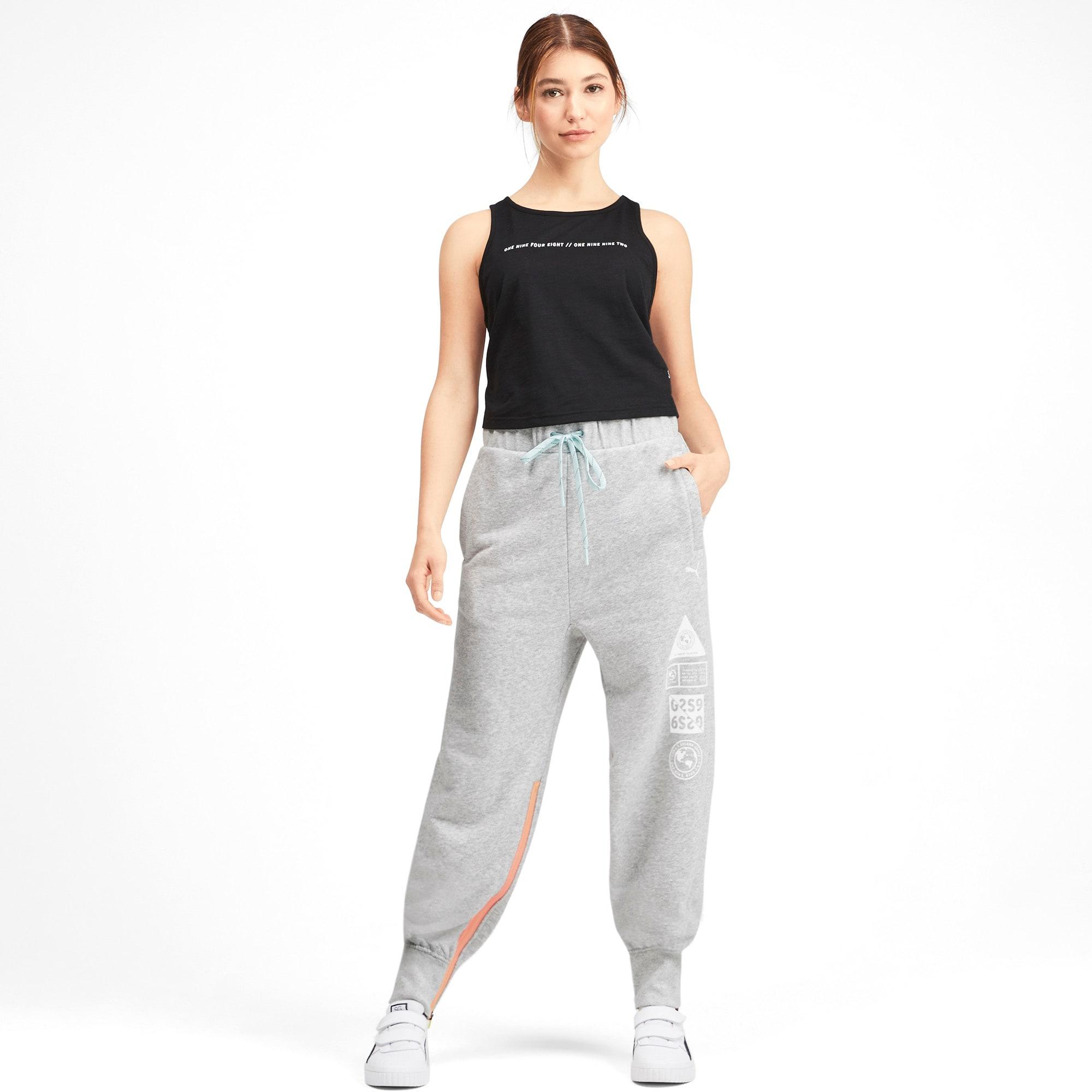 Thumbnail 3 van PUMA x SELENA GOMEZ sweatpants voor vrouwen, Light Gray Heather, medium
