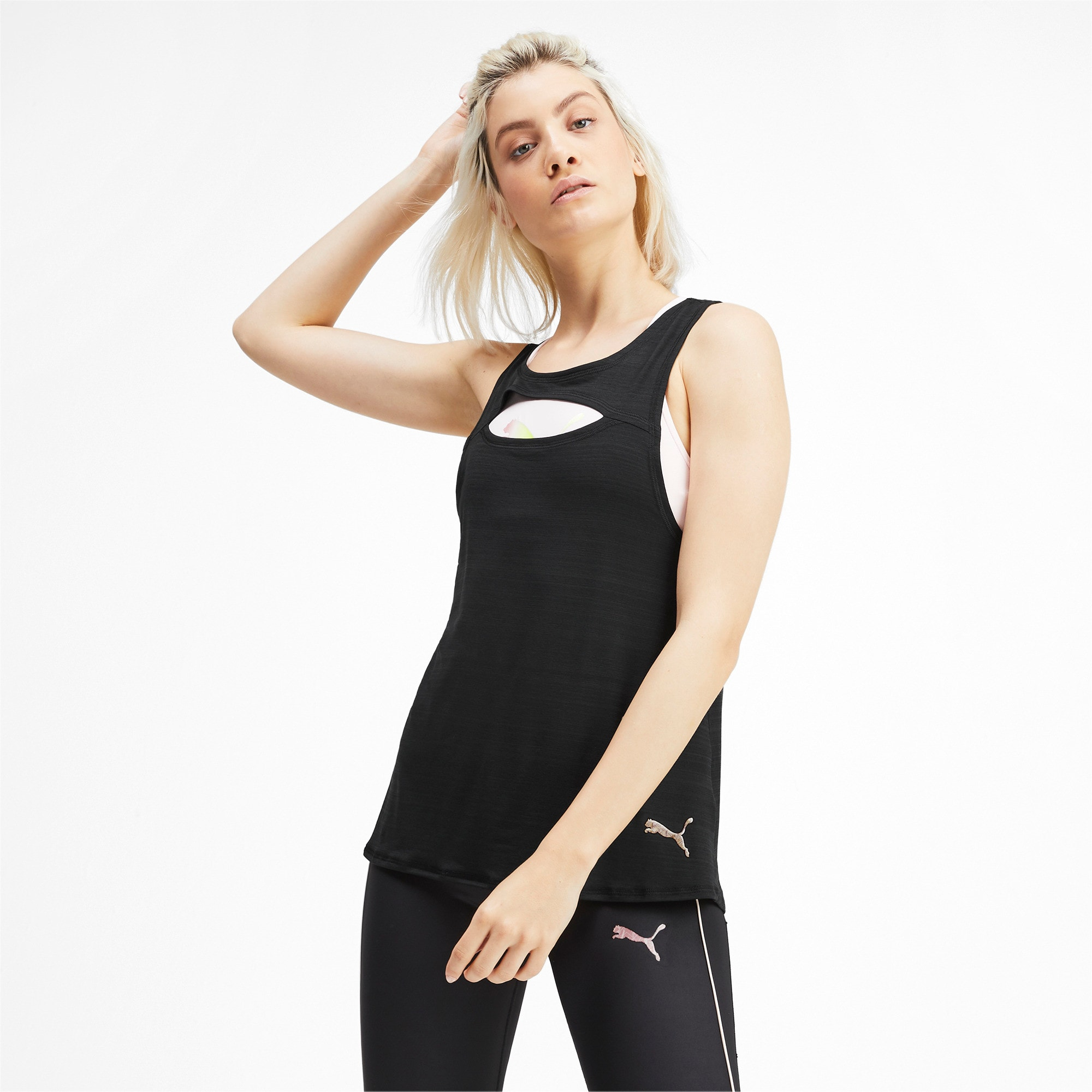 SHIFT Knitted Women's Training Tank Top, Puma Black, large