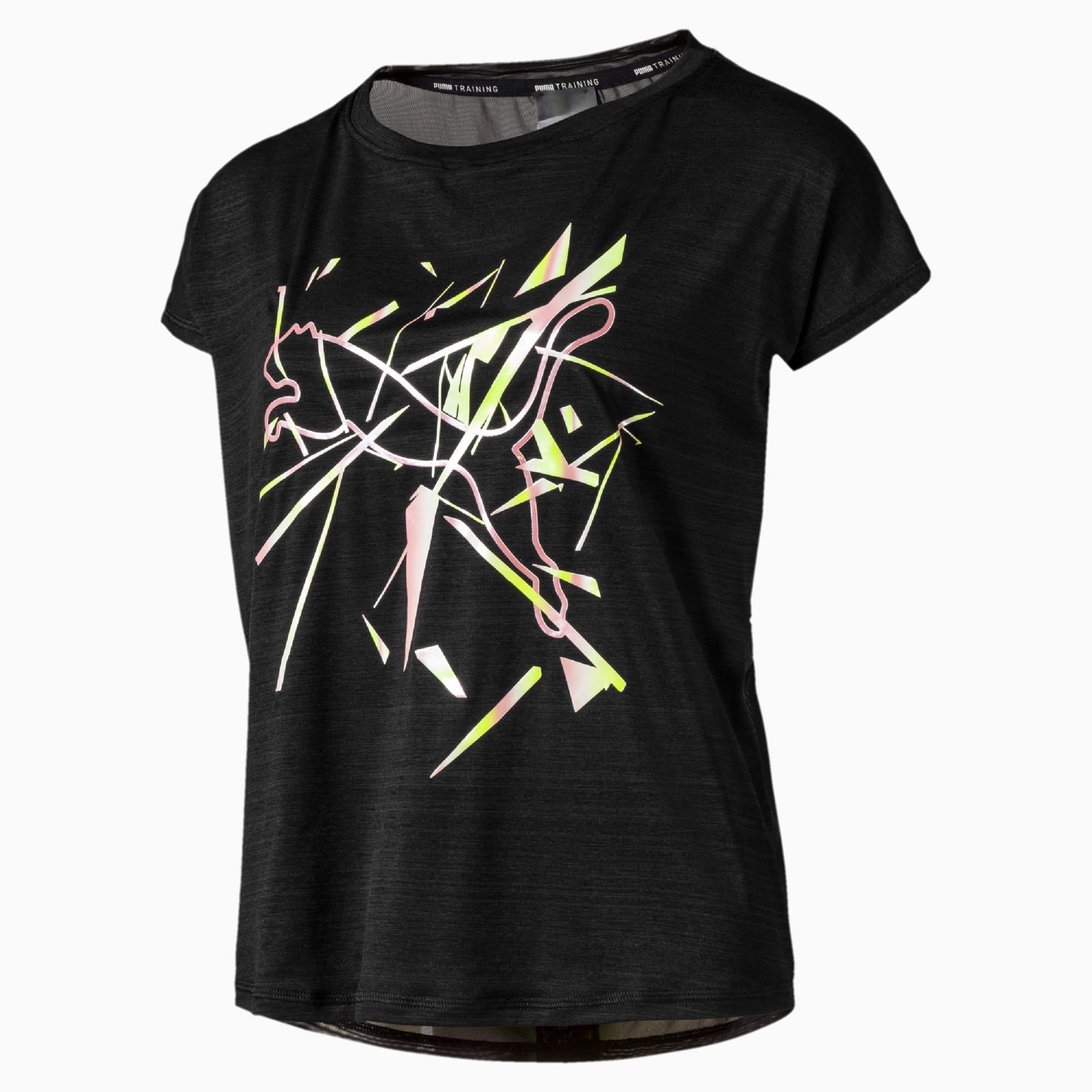 Puma Training Essentials T Shirt Trainingsshirt Damen schwarz weiß