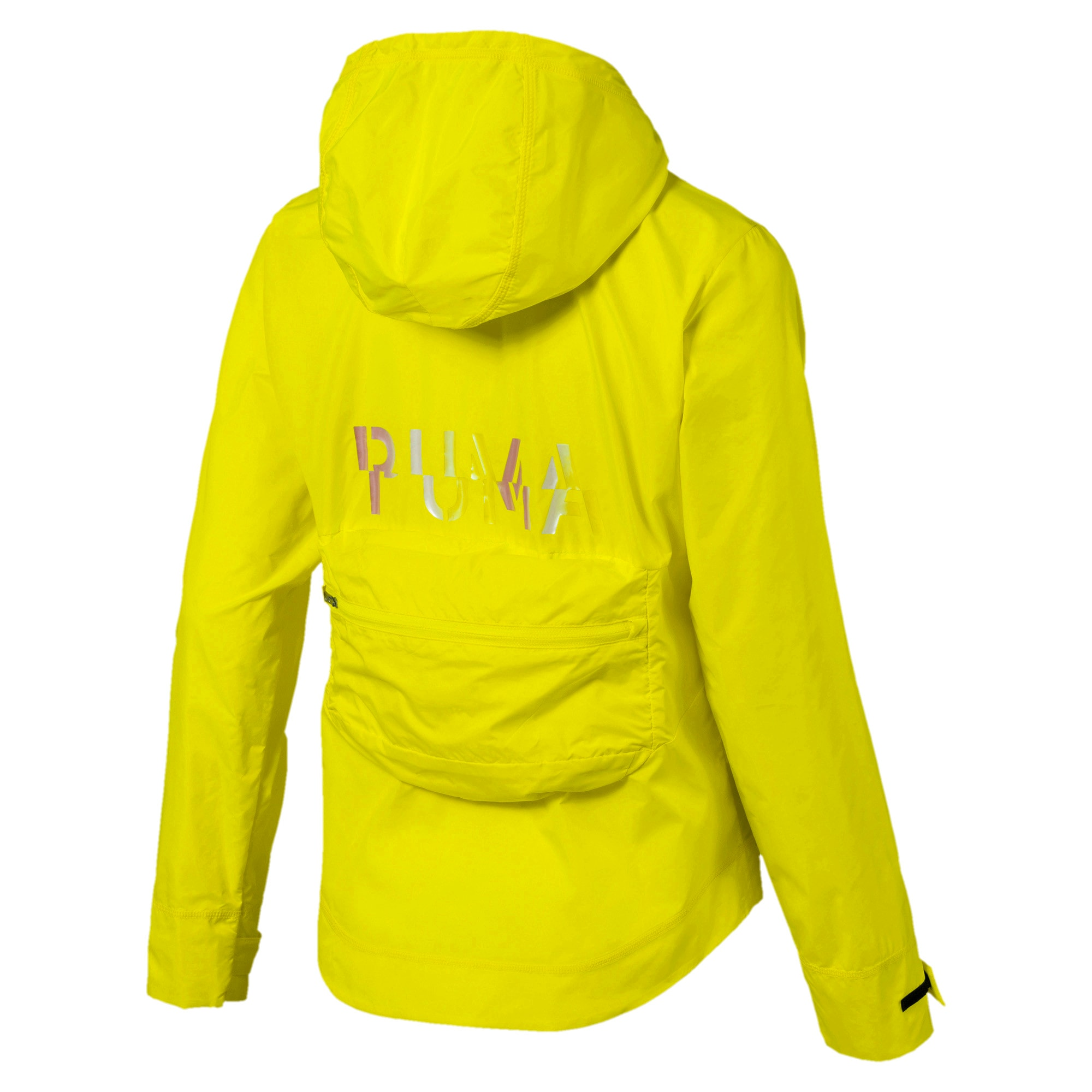 Thumbnail 5 of SHIFT Packable Hooded Full Zip Women's Training Windbreaker, Yellow Alert, medium