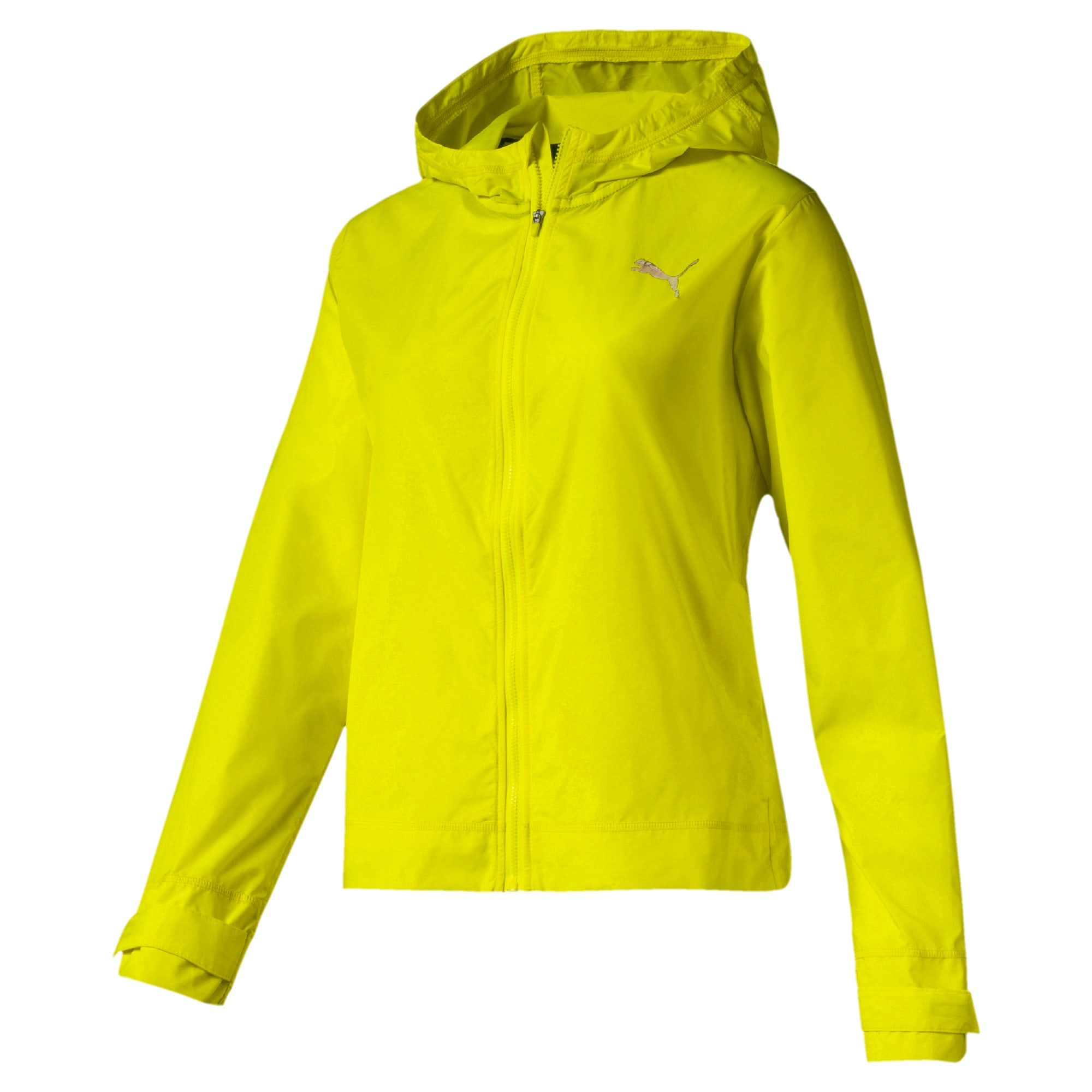 Thumbnail 4 of SHIFT Packable Hooded Full Zip Women's Training Windbreaker, Yellow Alert, medium
