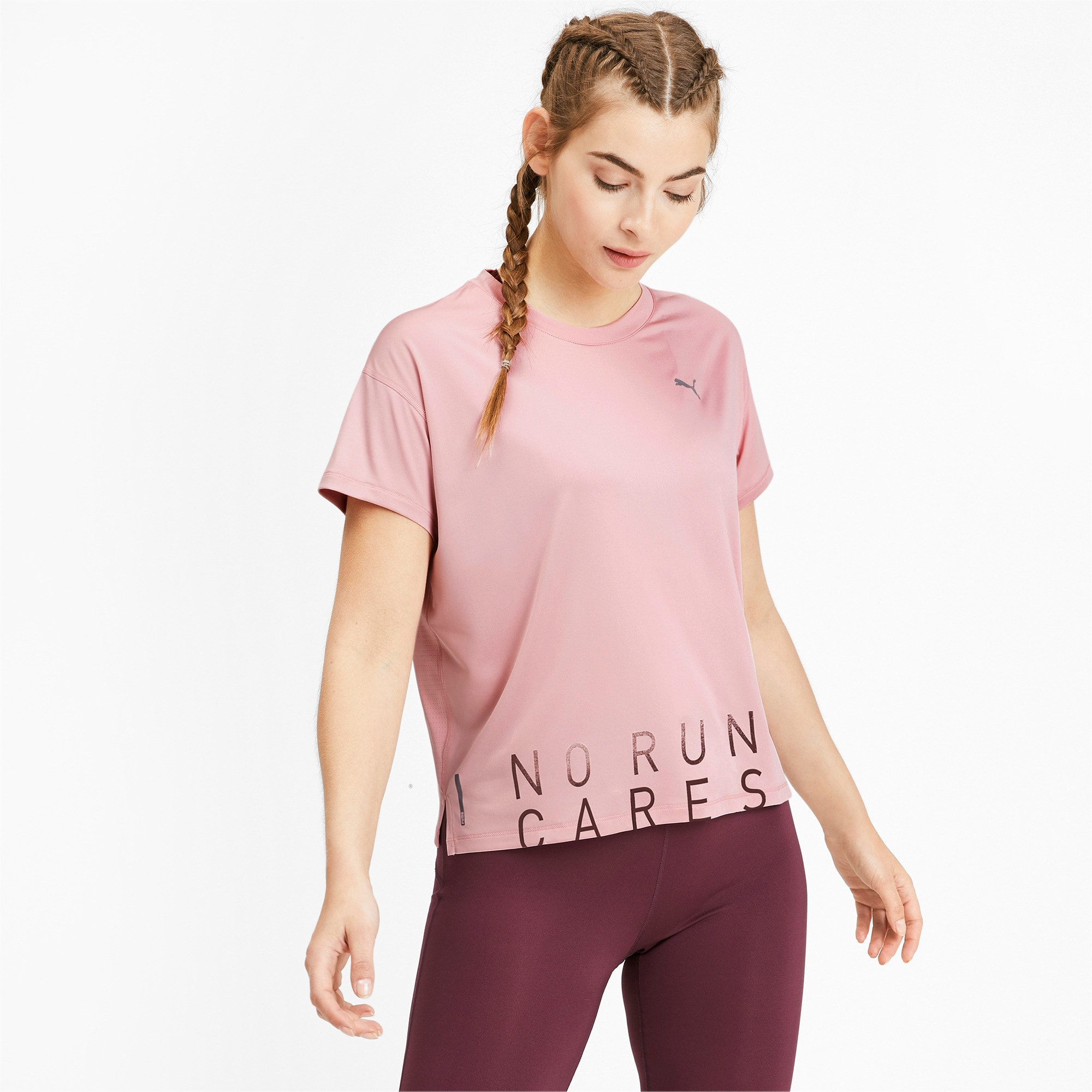 Thumbnail 1 of Last Lap Damen Running T-Shirt, Bridal Rose-Slogan, medium