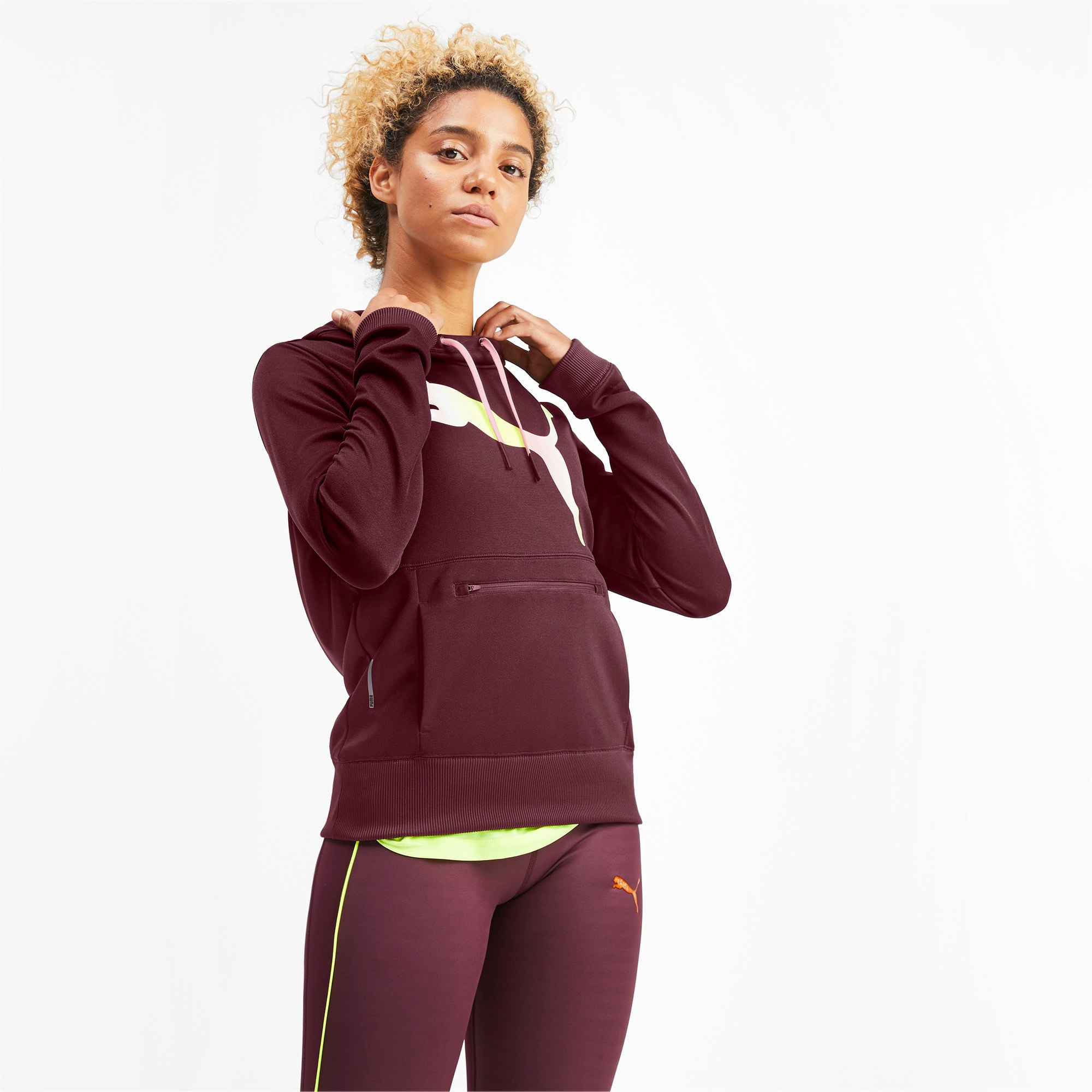 Thumbnail 1 of SHIFT Women's Training Hoodie, Vineyard Wine, medium