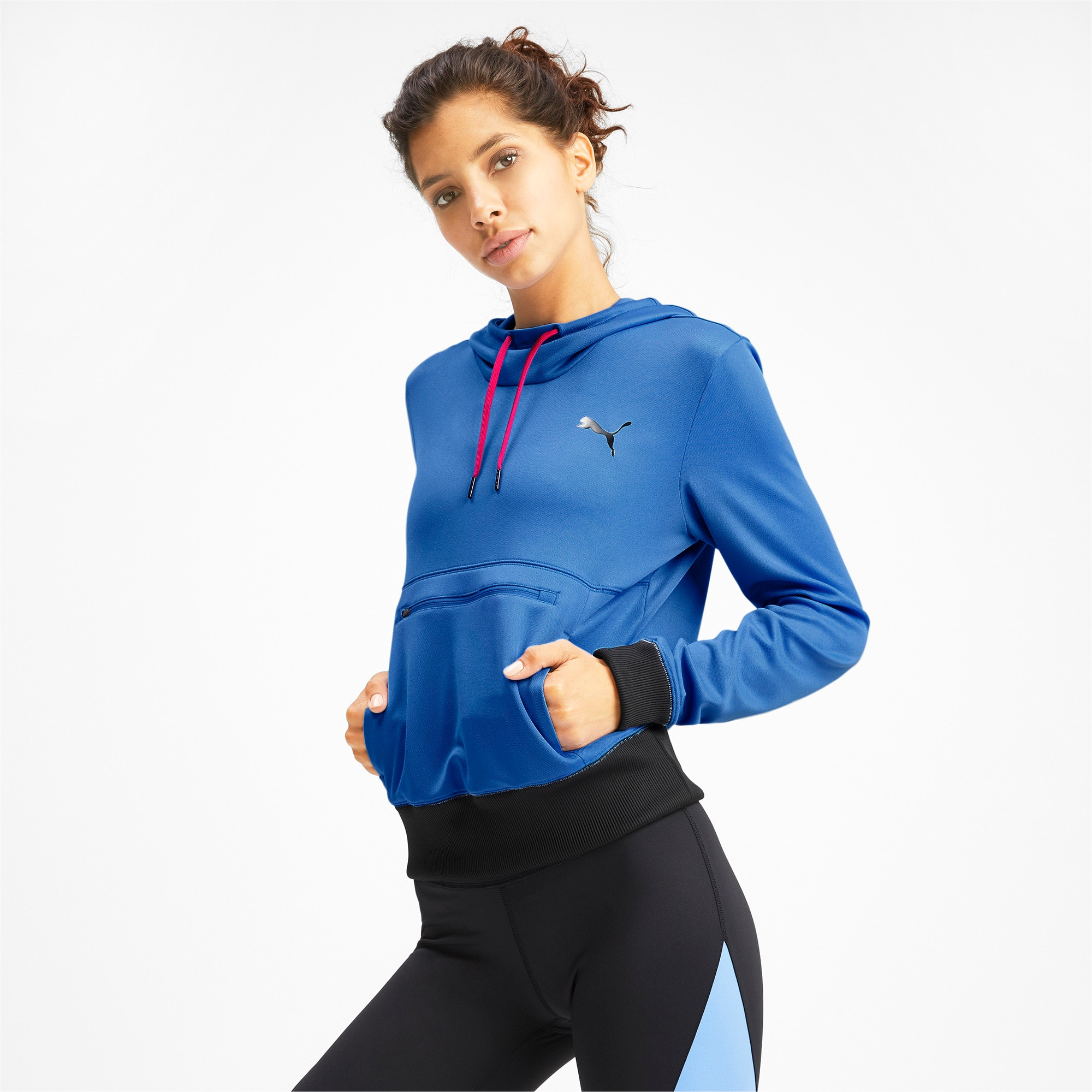 Thumbnail 1 of SHIFT Damen Training Hoodie, Blue Glimmer, medium