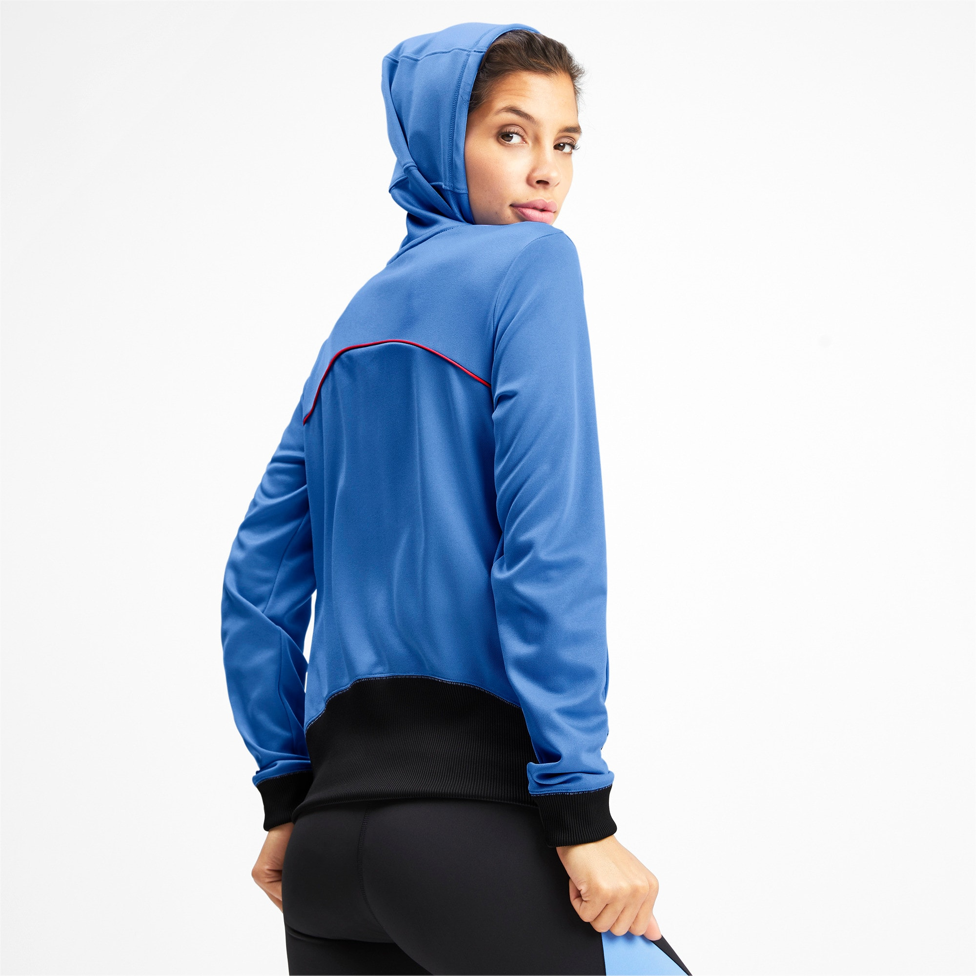 Thumbnail 2 of SHIFT Damen Training Hoodie, Blue Glimmer, medium
