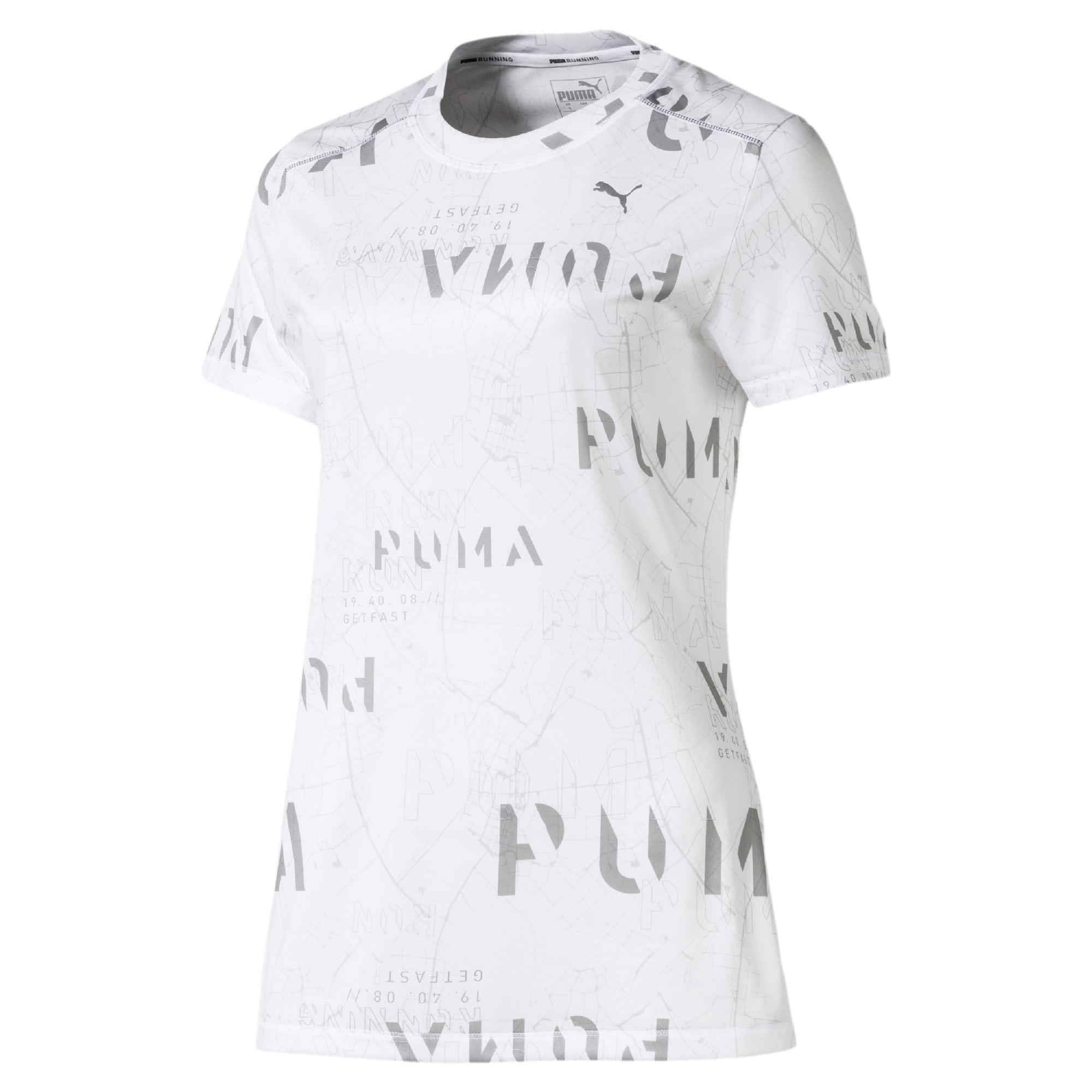 Last Lap Graphic Women's Running Tee, Puma White, large-IND