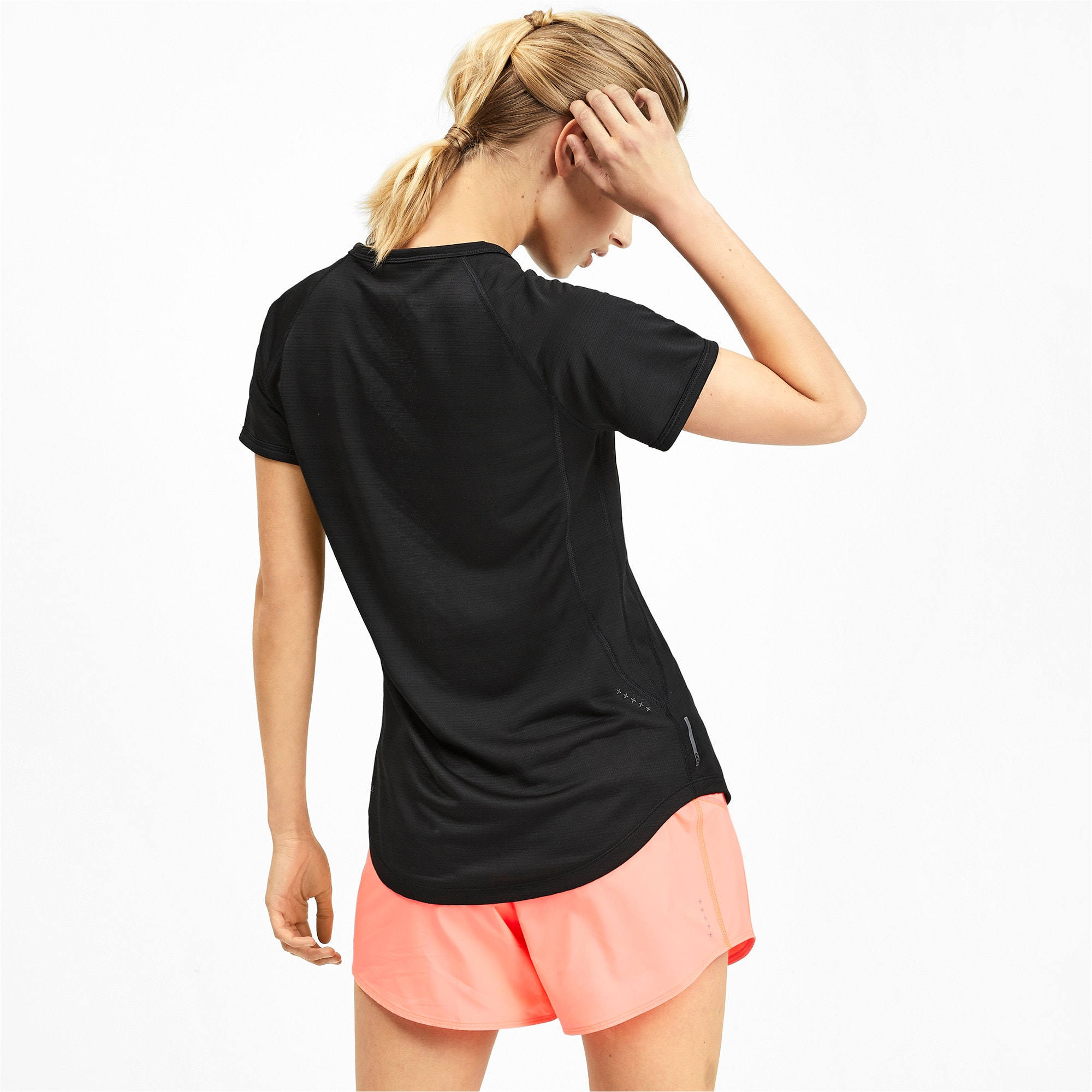Thumbnail 2 of Get Fast Thermo-R+ Women's Tee, Puma Black, medium-IND