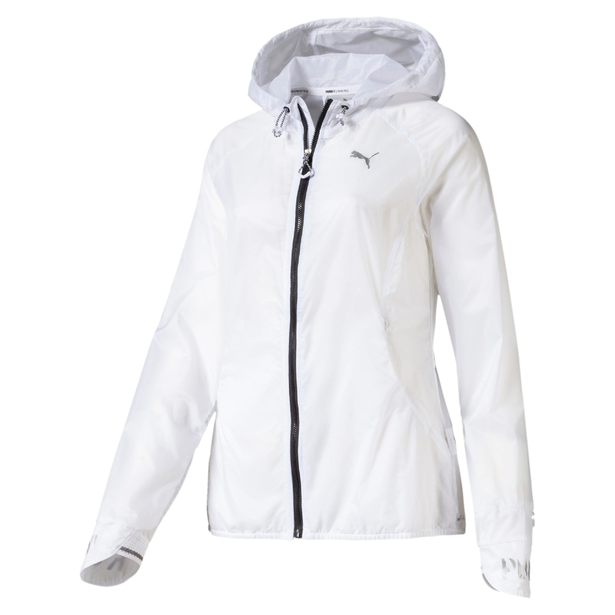 Thumbnail 4 of Get Fast Hooded Full Zip Women's Running Jacket, Puma White, medium