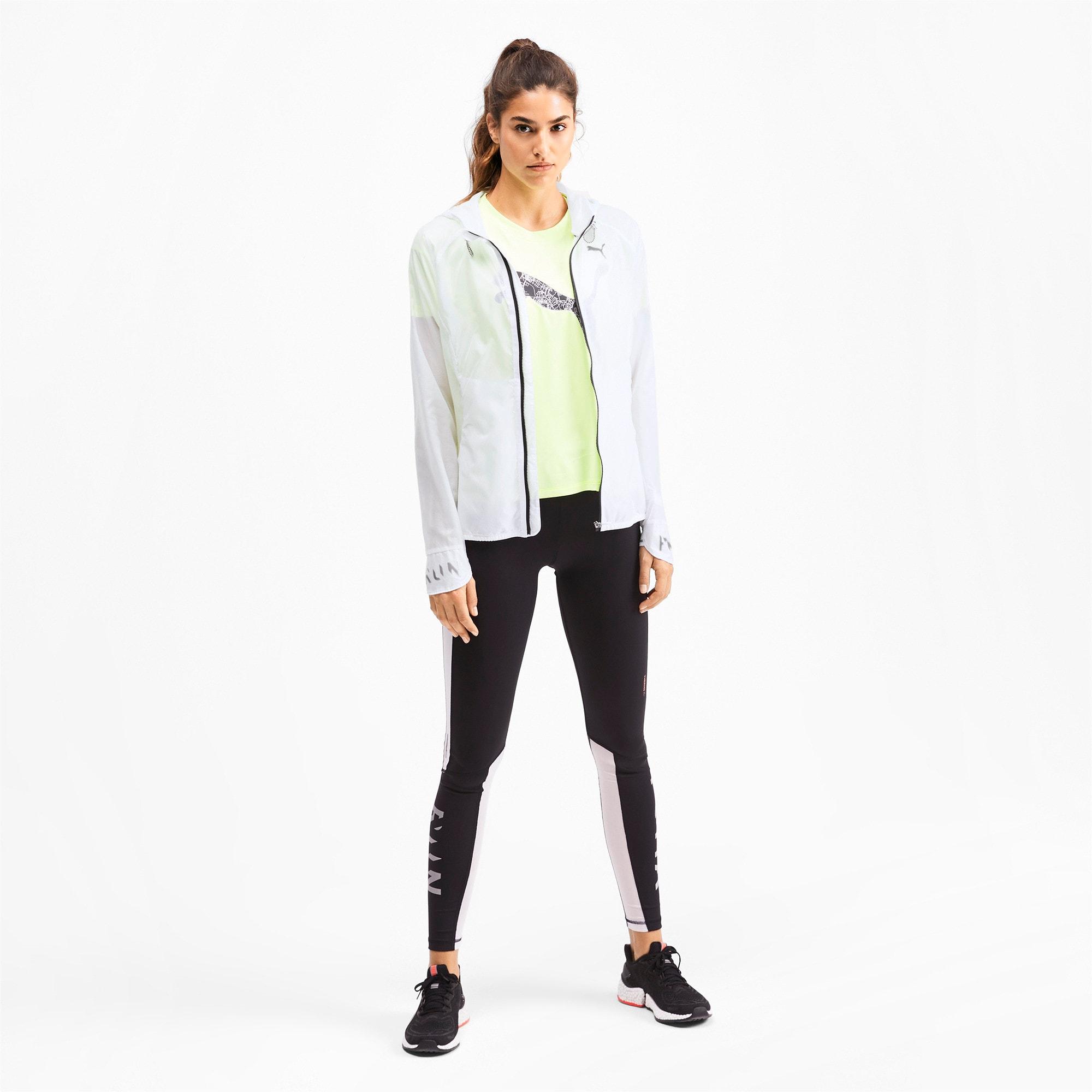 Thumbnail 3 of Get Fast Hooded Full Zip Women's Running Jacket, Puma White, medium