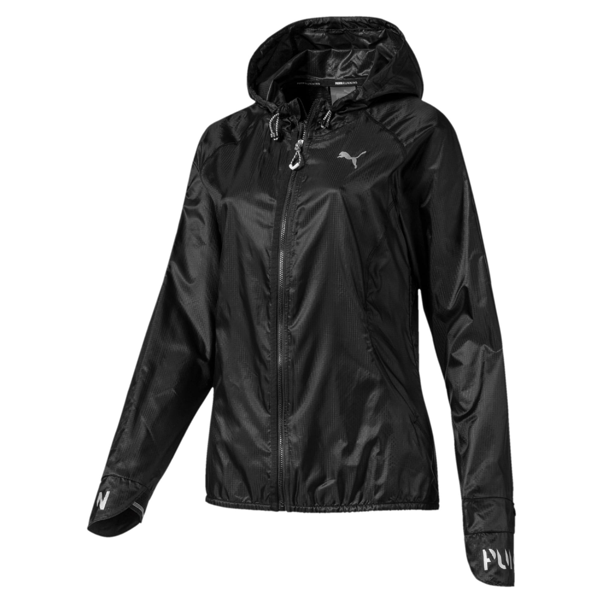 Thumbnail 4 of Get Fast Hooded Full Zip Women's Running Jacket, Puma Black, medium