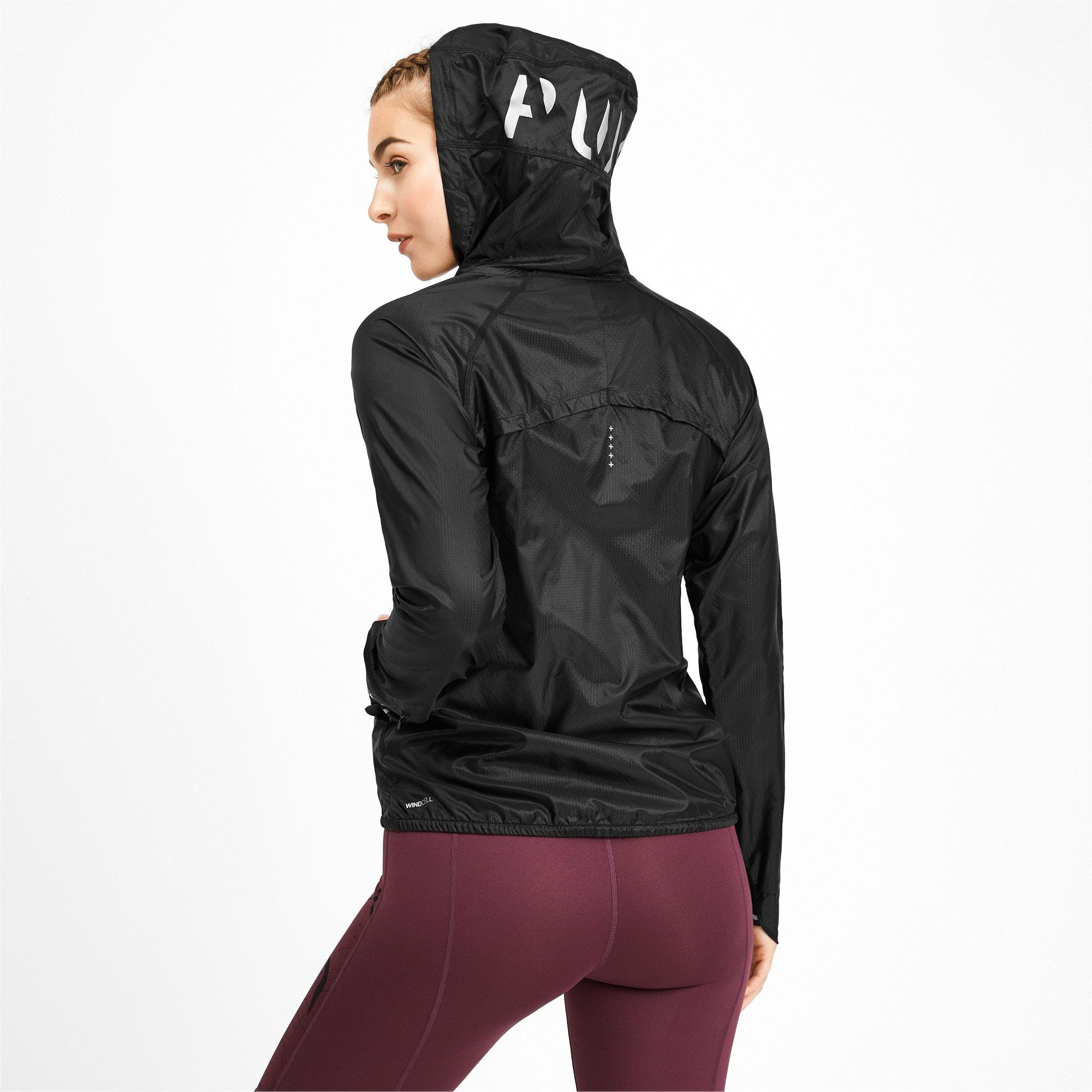 Thumbnail 2 of Get Fast Hooded Full Zip Women's Running Jacket, Puma Black, medium