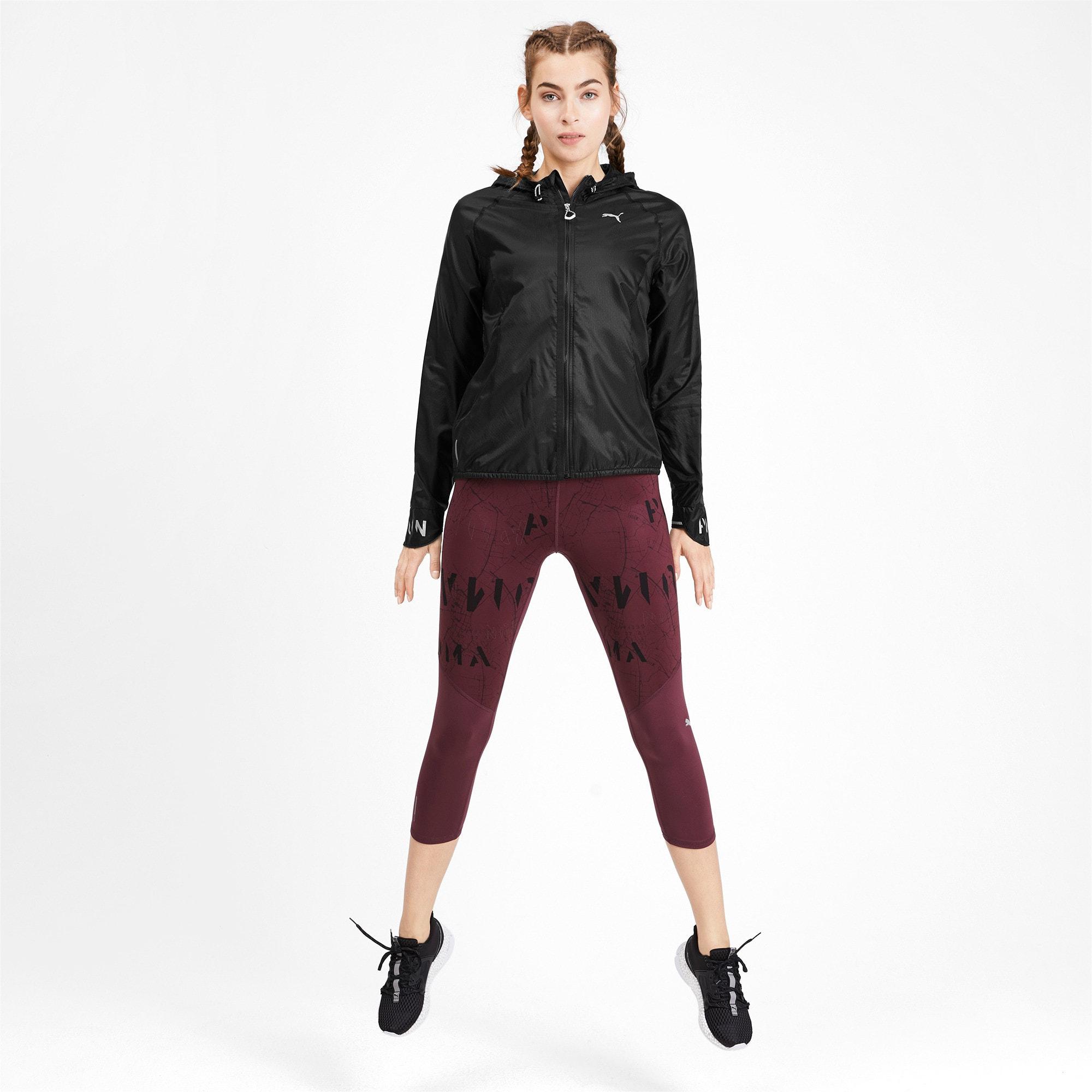 Thumbnail 3 of Get Fast Hooded Full Zip Women's Running Jacket, Puma Black, medium
