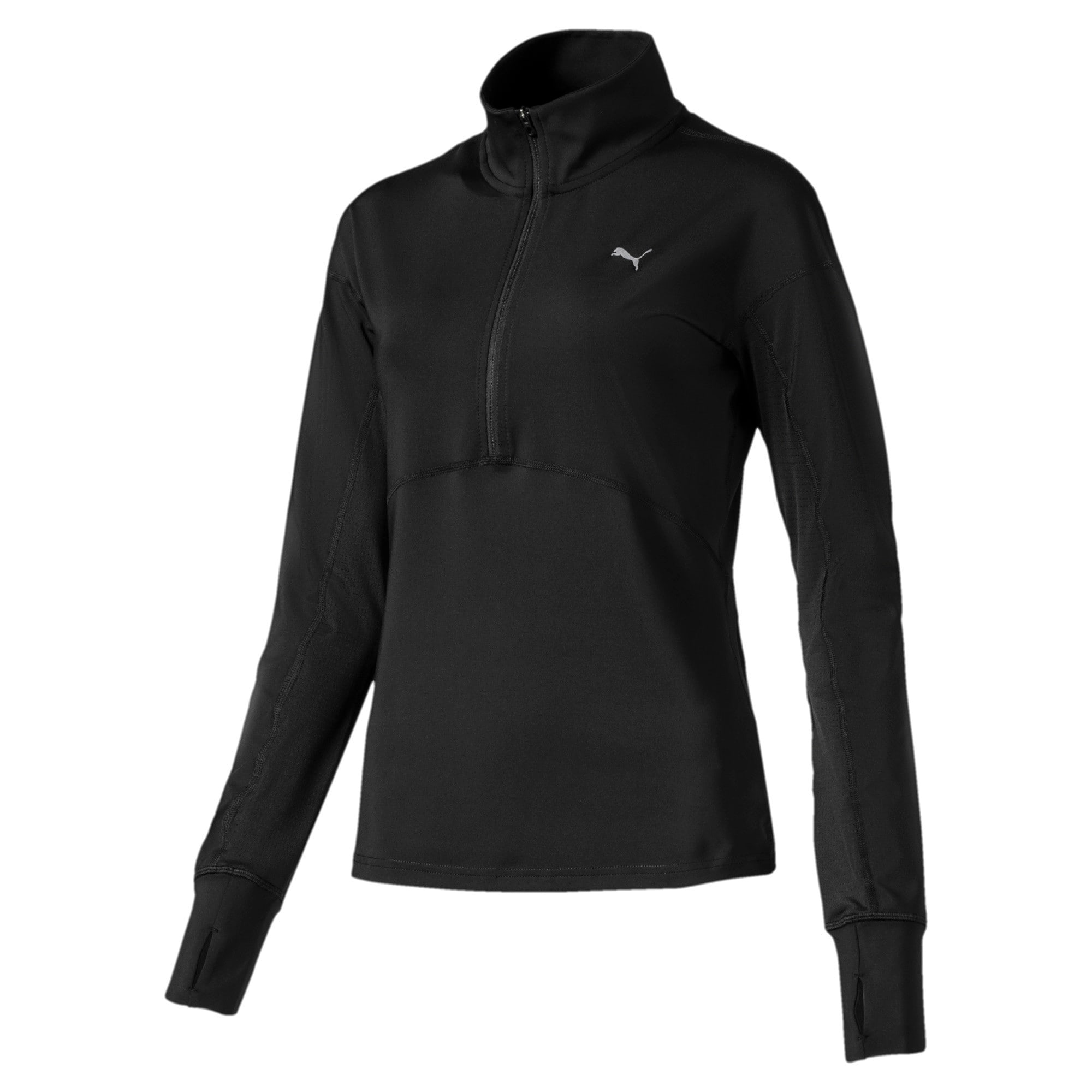 Thumbnail 4 of Ignite Long Sleeve Women's Running Pullover, Puma Black, medium