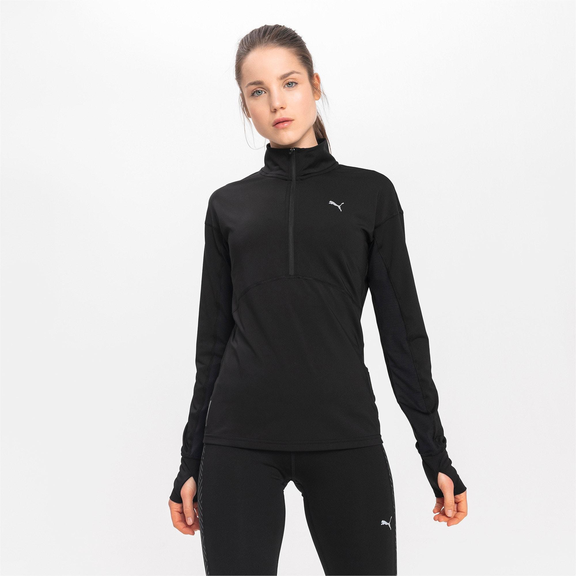 Thumbnail 1 of Ignite Long Sleeve Women's Running Pullover, Puma Black, medium