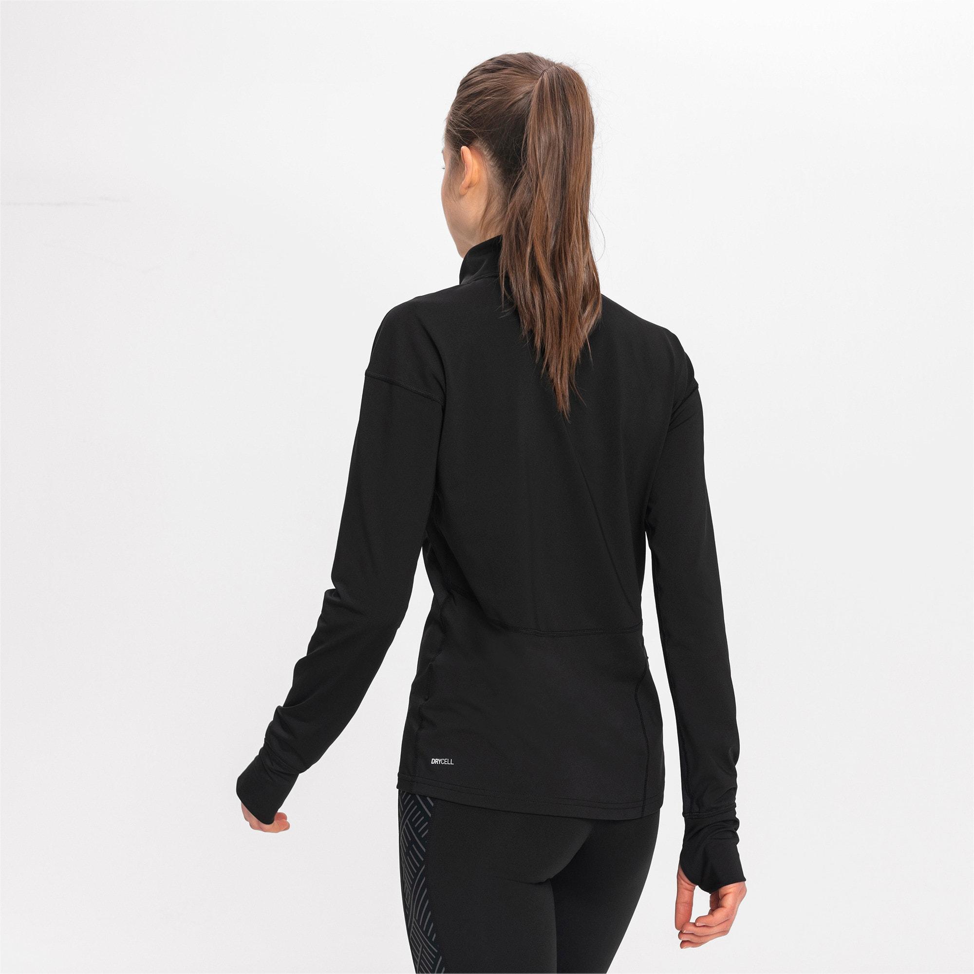 Thumbnail 2 of Ignite Long Sleeve Women's Running Pullover, Puma Black, medium