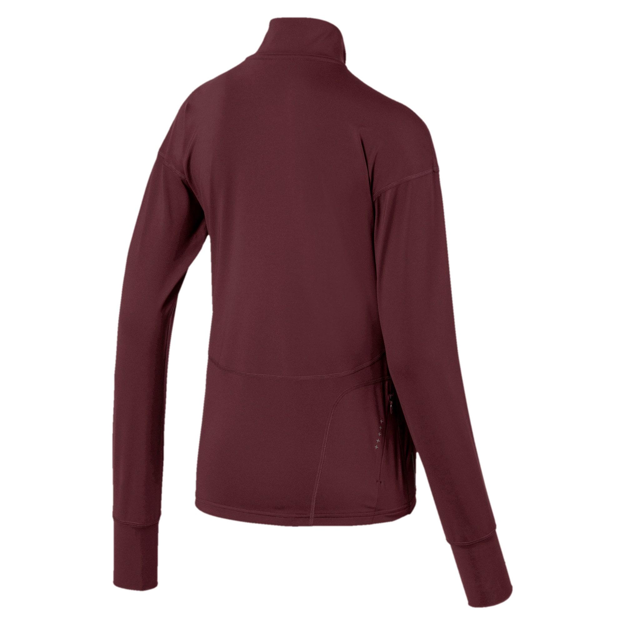 Thumbnail 5 of Ignite Long Sleeve Women's Running Pullover, Vineyard Wine, medium