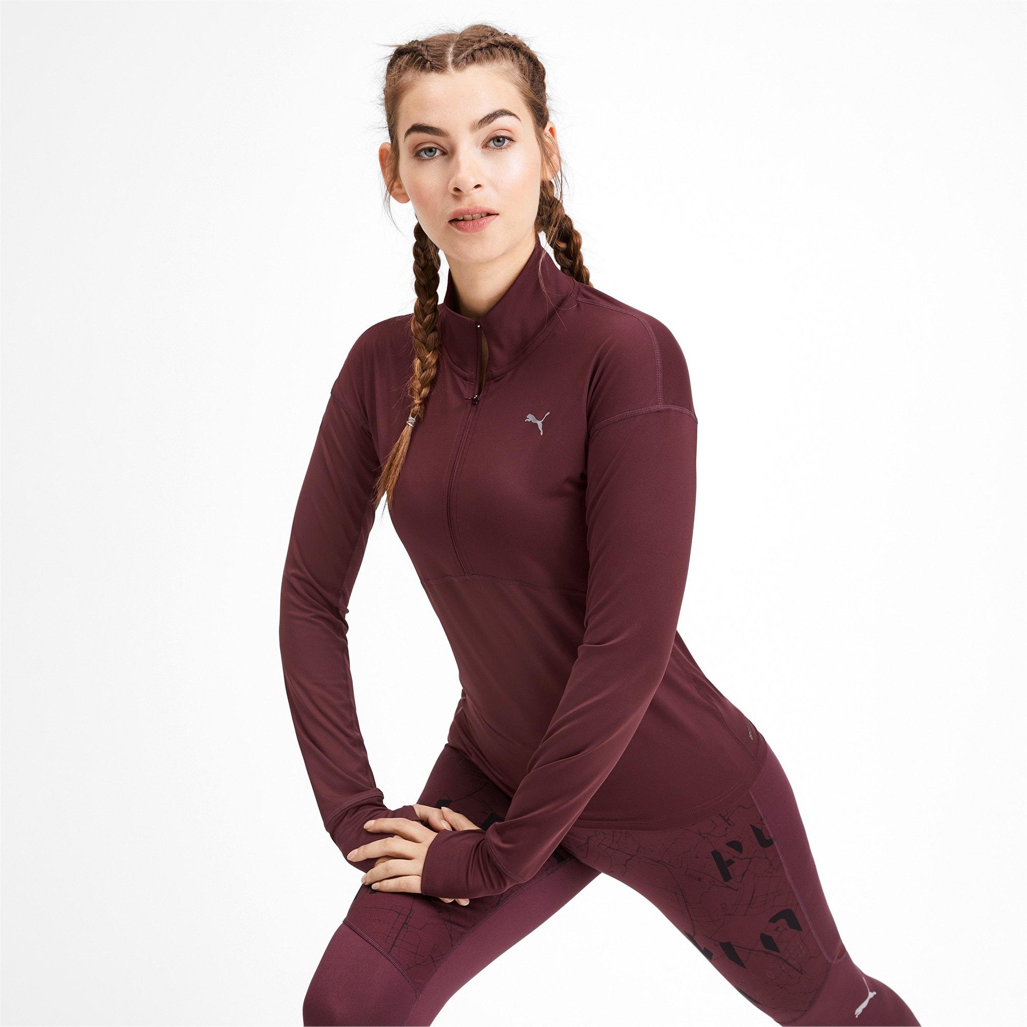 Thumbnail 1 of Ignite Long Sleeve Women's Running Pullover, Vineyard Wine, medium