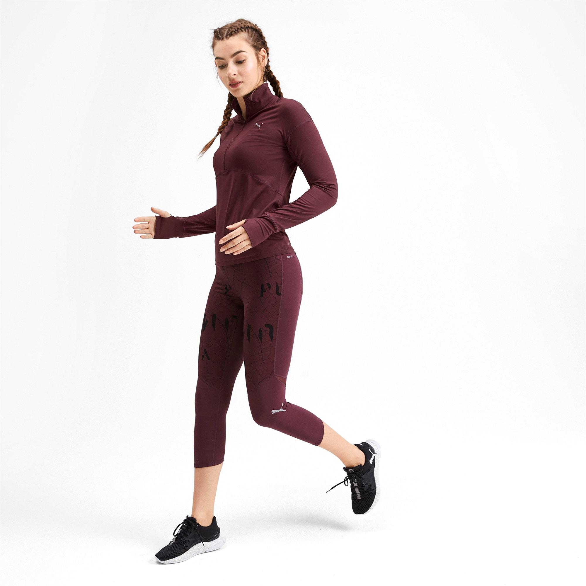 Thumbnail 3 of Ignite Long Sleeve Women's Running Pullover, Vineyard Wine, medium