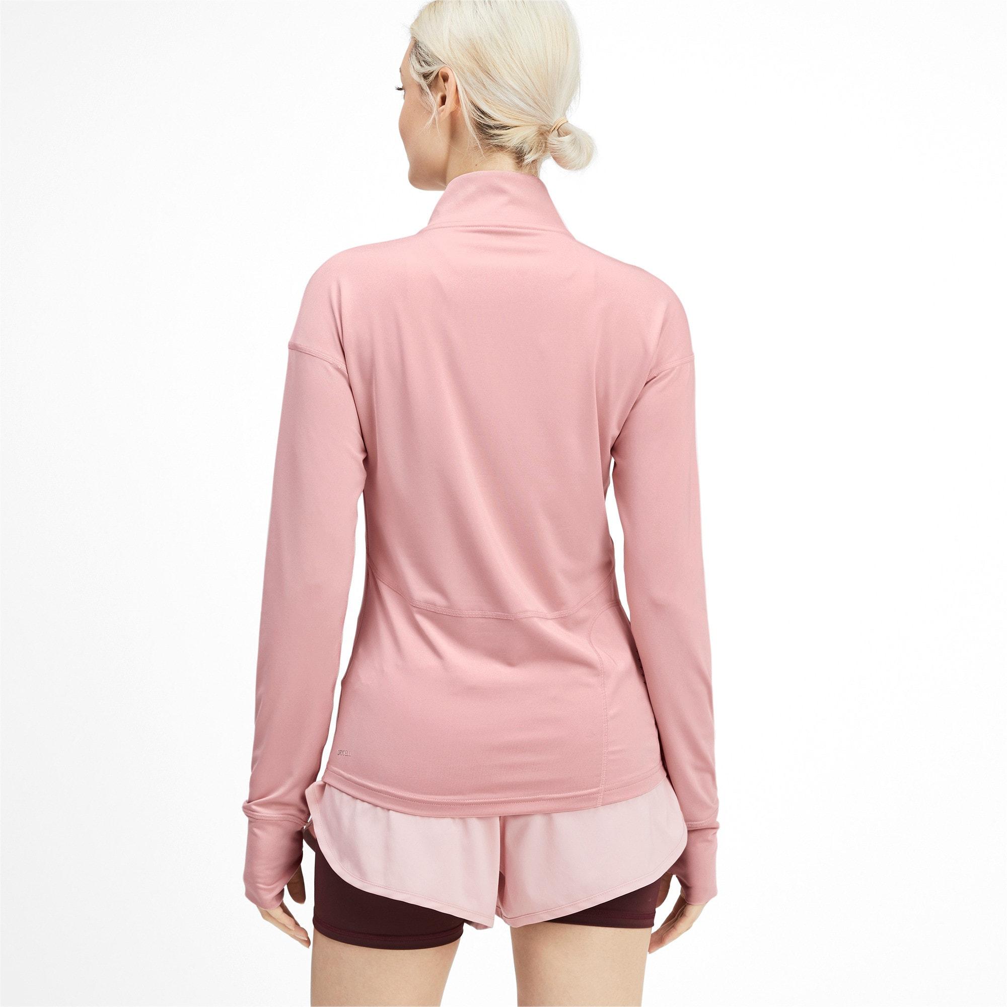 Thumbnail 2 of Ignite Long Sleeve Women's Running Pullover, Bridal Rose, medium