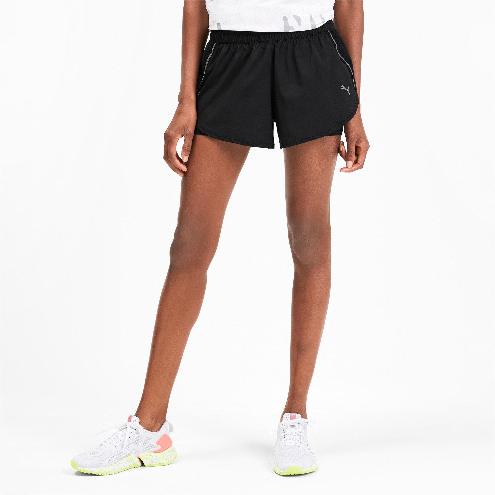 Thumbnail 1 of ADHM 2019 Last Lap Woven 2 in 1 Women's Running Shorts, Puma Black-Puma Black, medium-IND